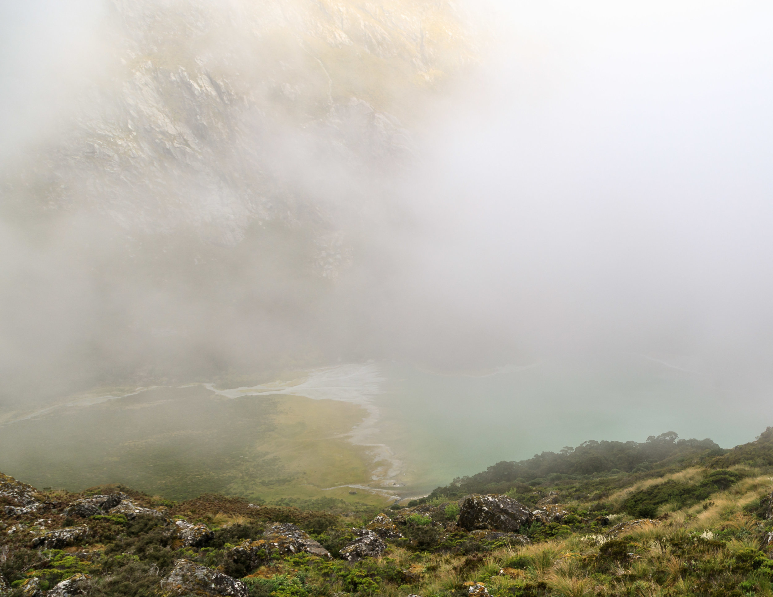 The Routeburn Track: Lake MacKenzie through the mist