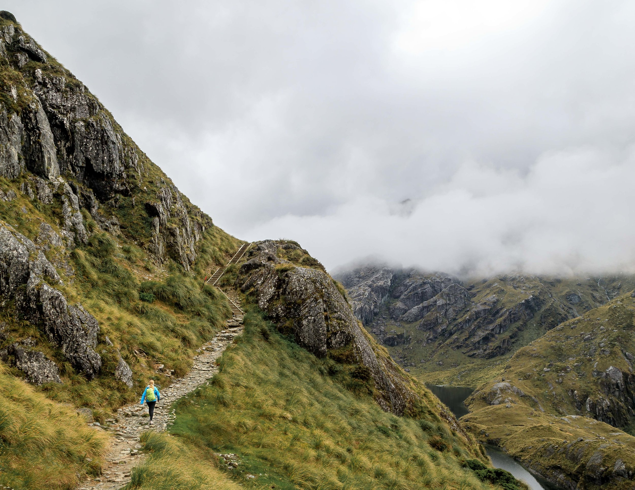 The path up to the top of Harris Saddle