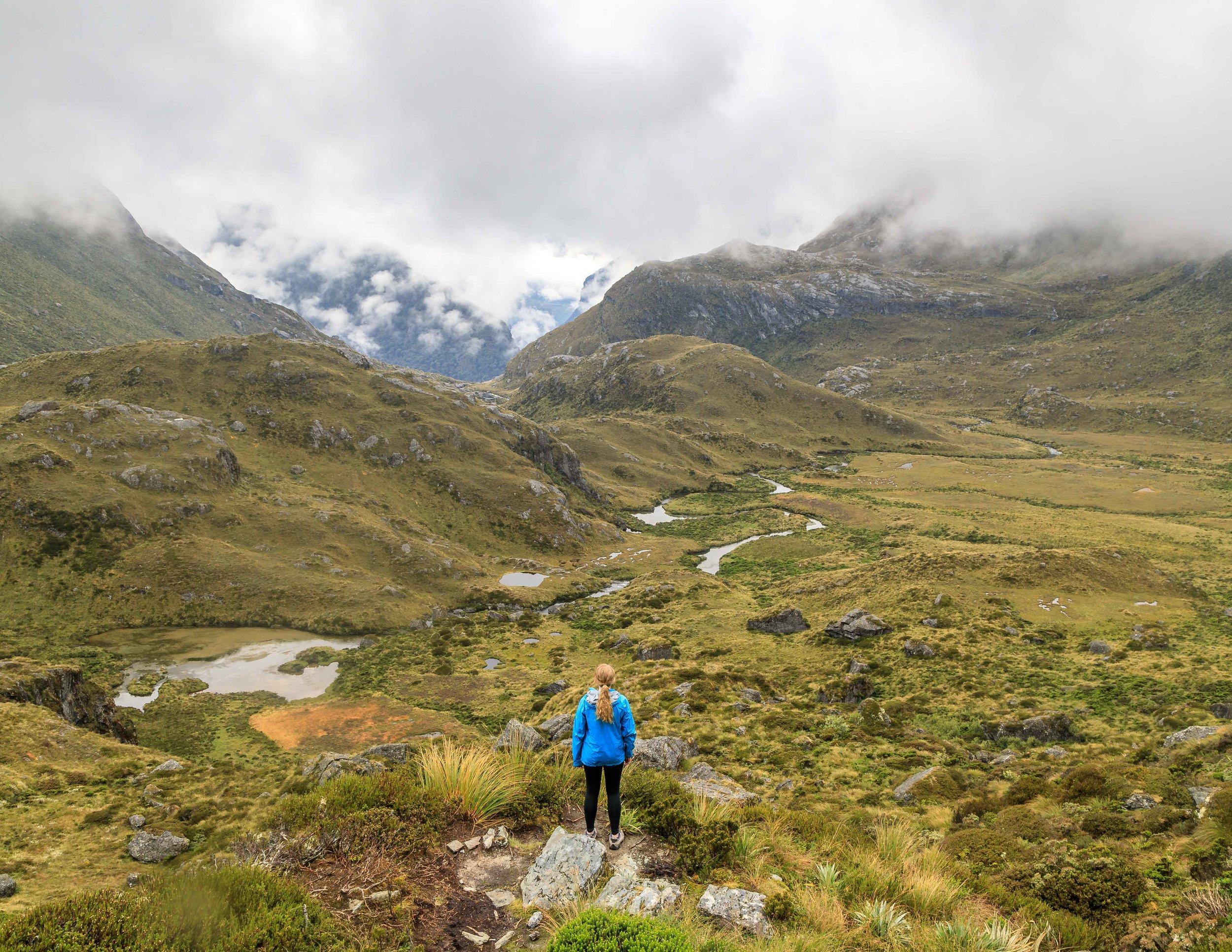 The Routeburn Track: Hiking up to Harris Saddle