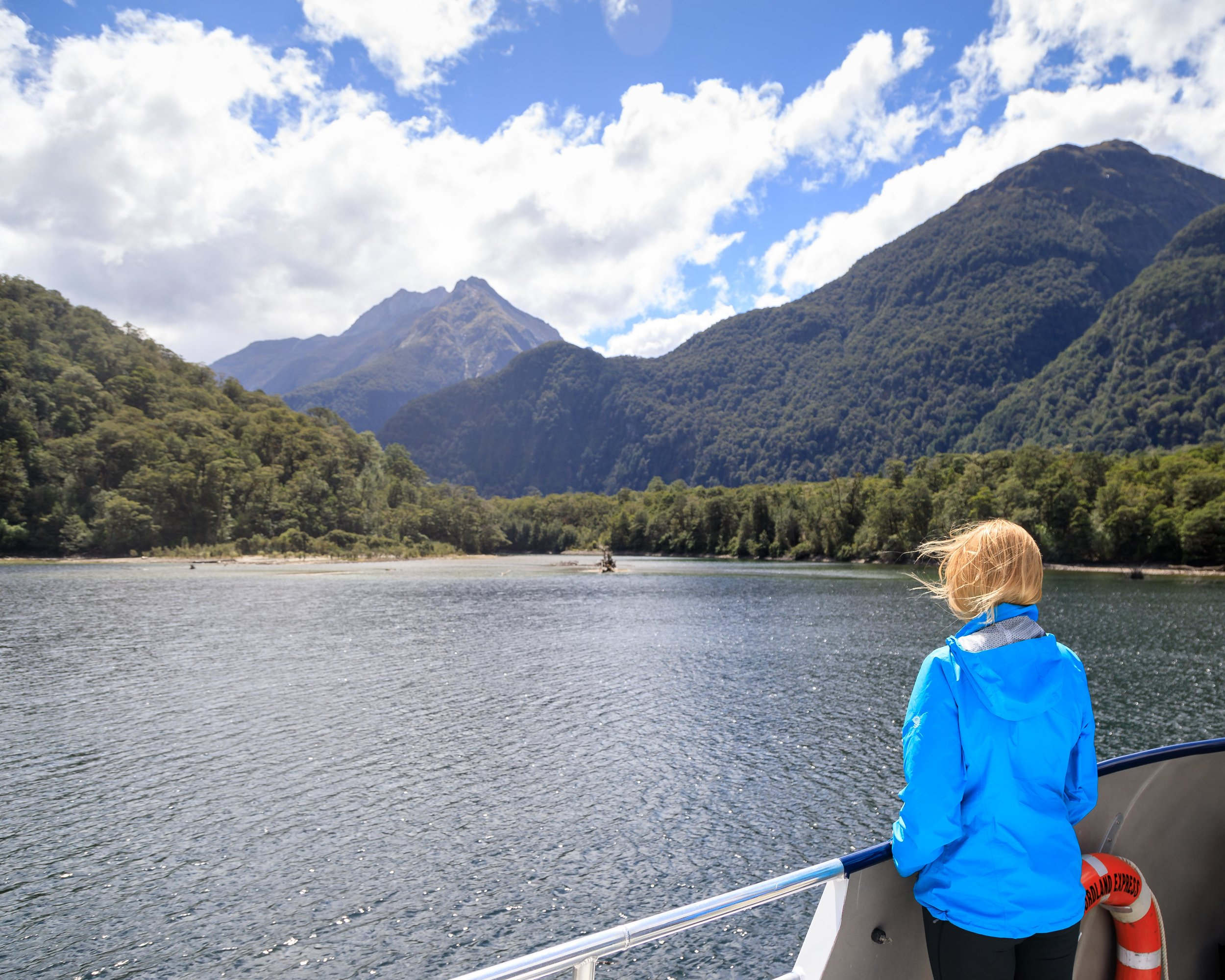 The Milford Track: The boat from Te Anau Downs