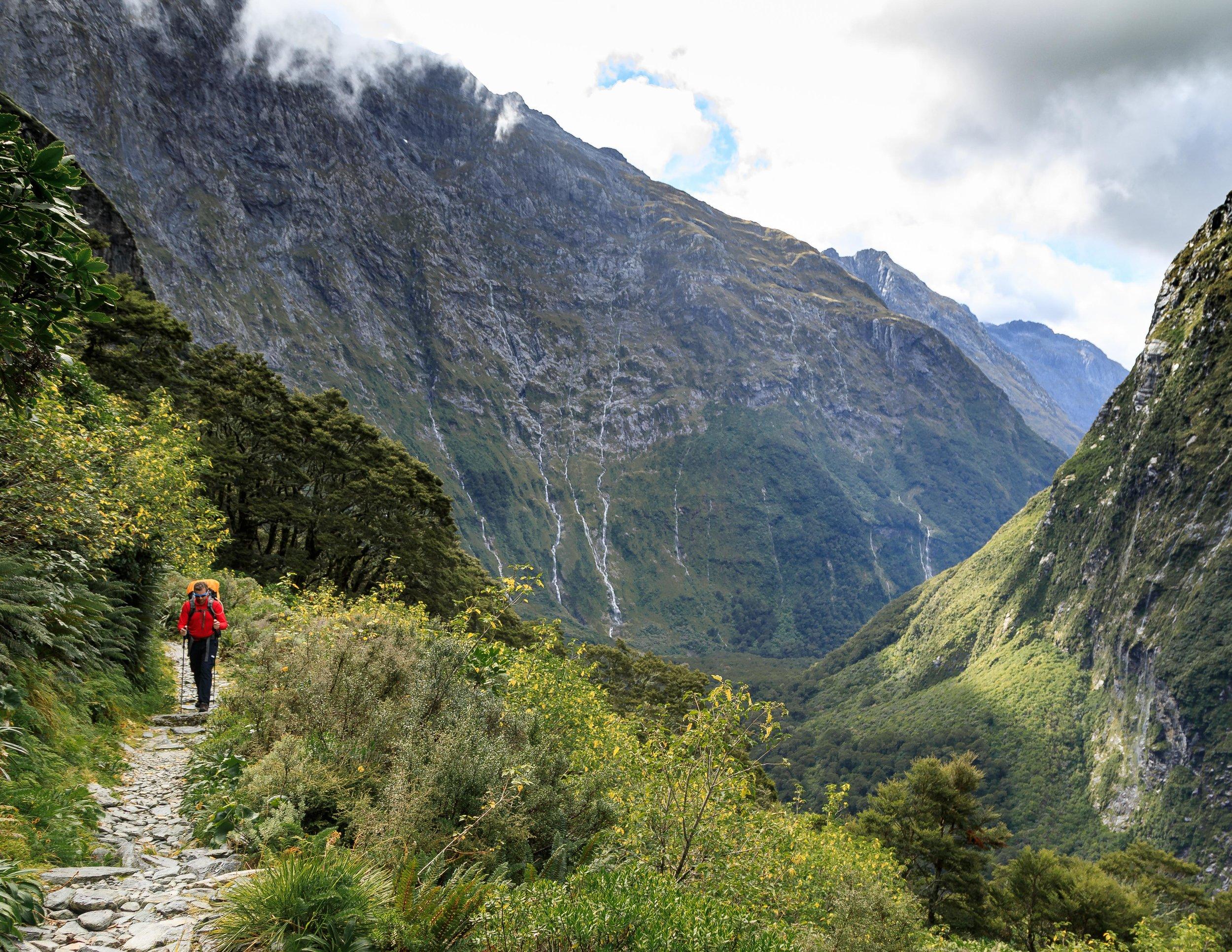 The climb to the MacKinnon Pass
