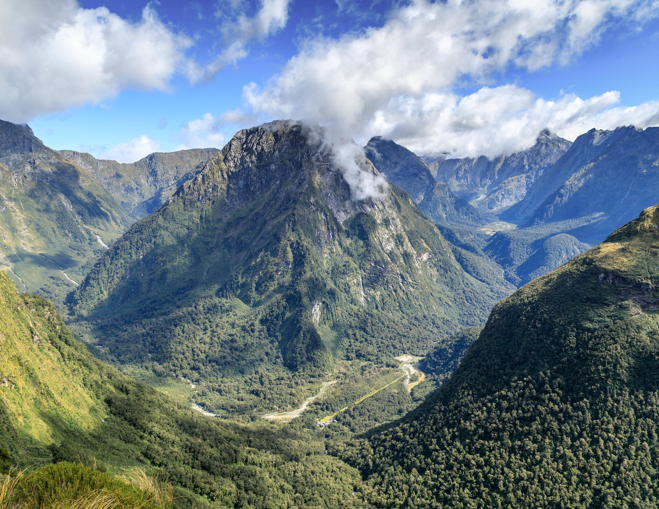 The Arthur Valley from the MacKinnon Pass