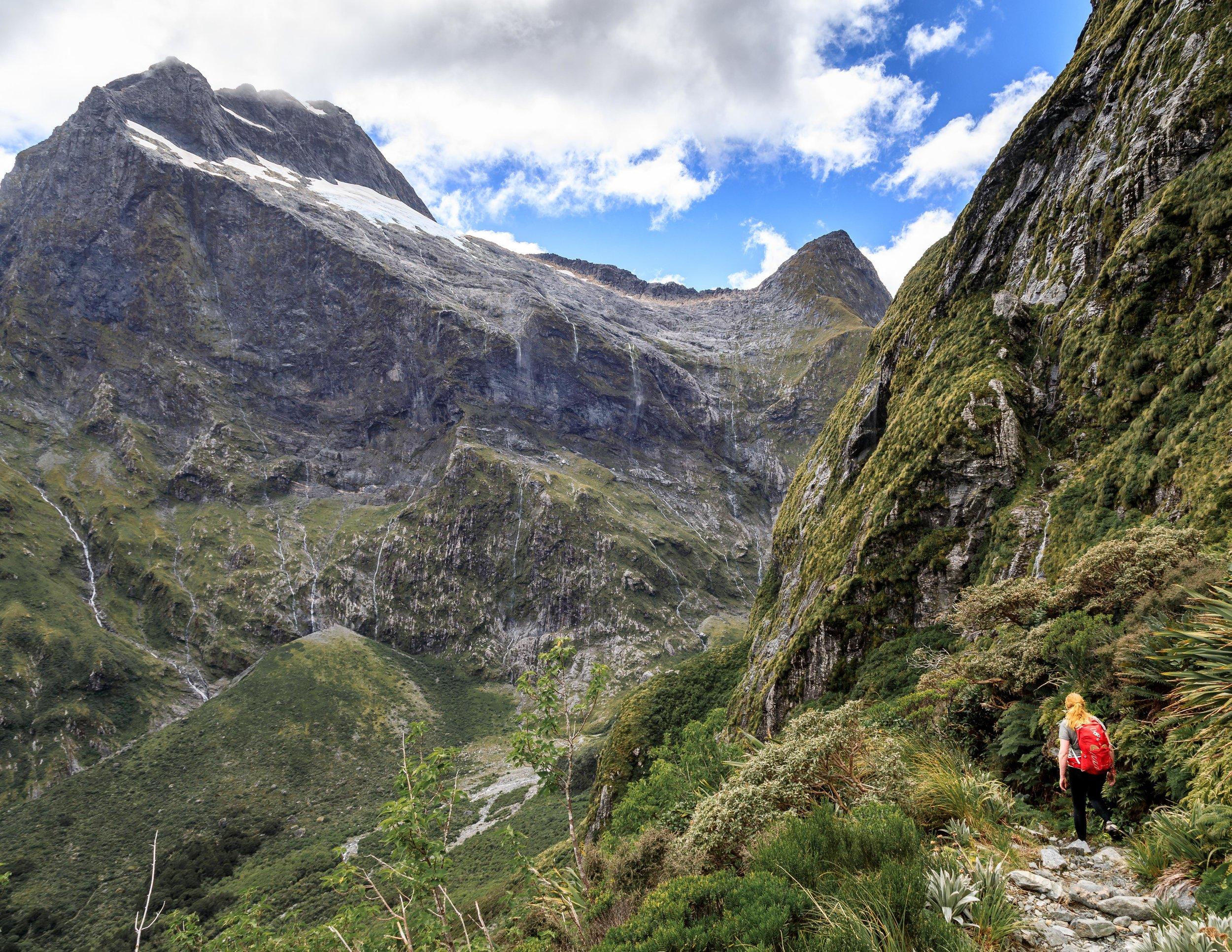 The hike down from the MacKinnon Pass, Milford Track