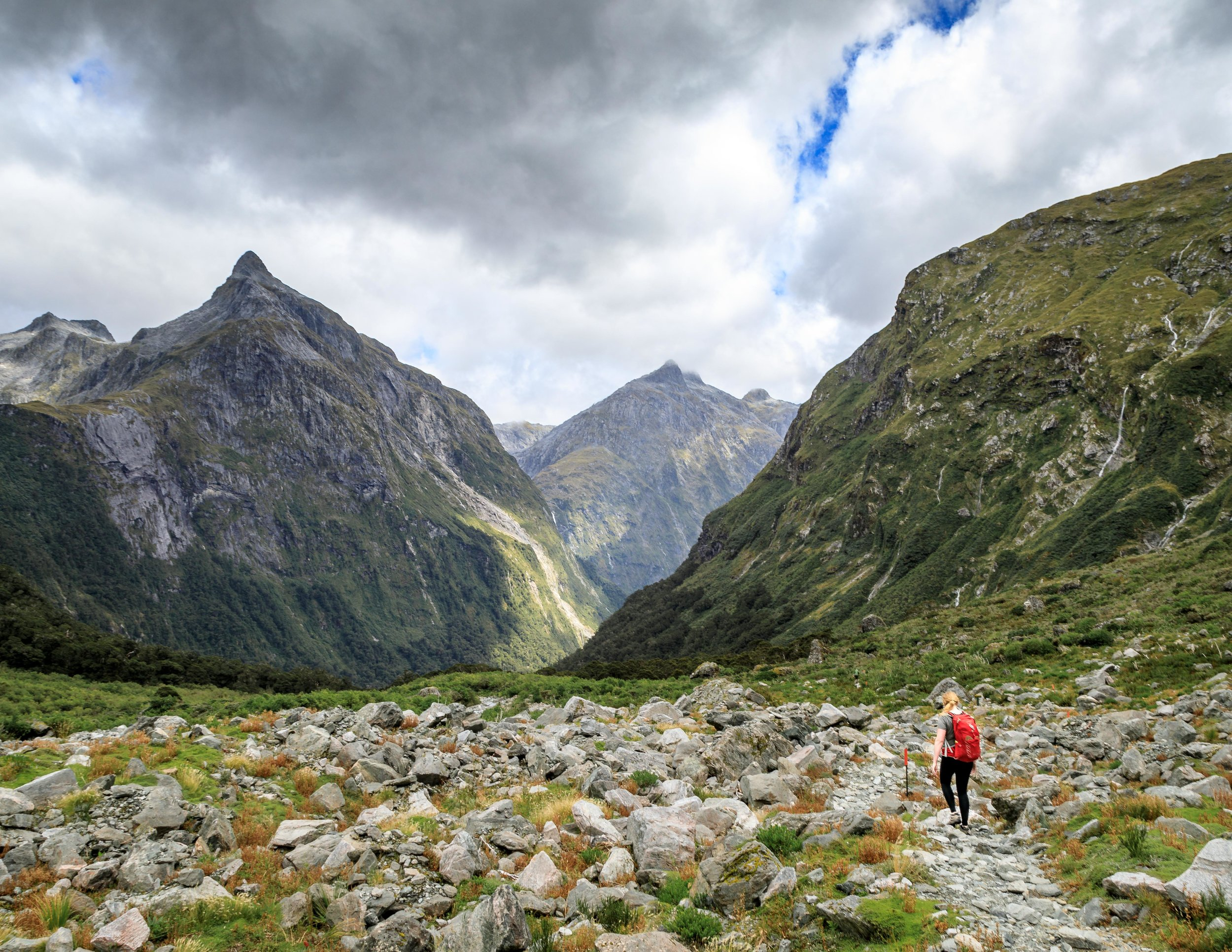The boulder patch after the MacKinnon Pass, Milford Track