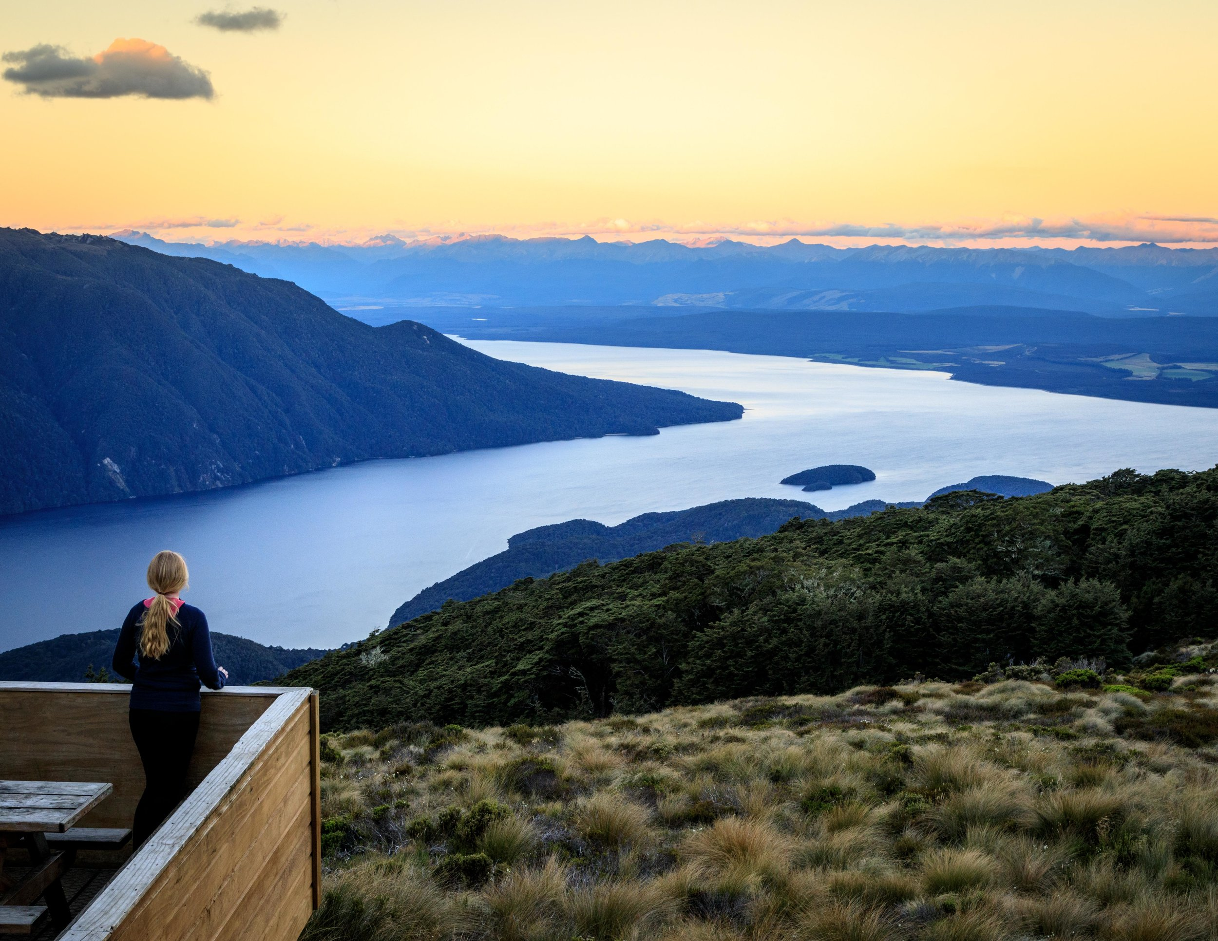 Sunset from Luxmore Hut