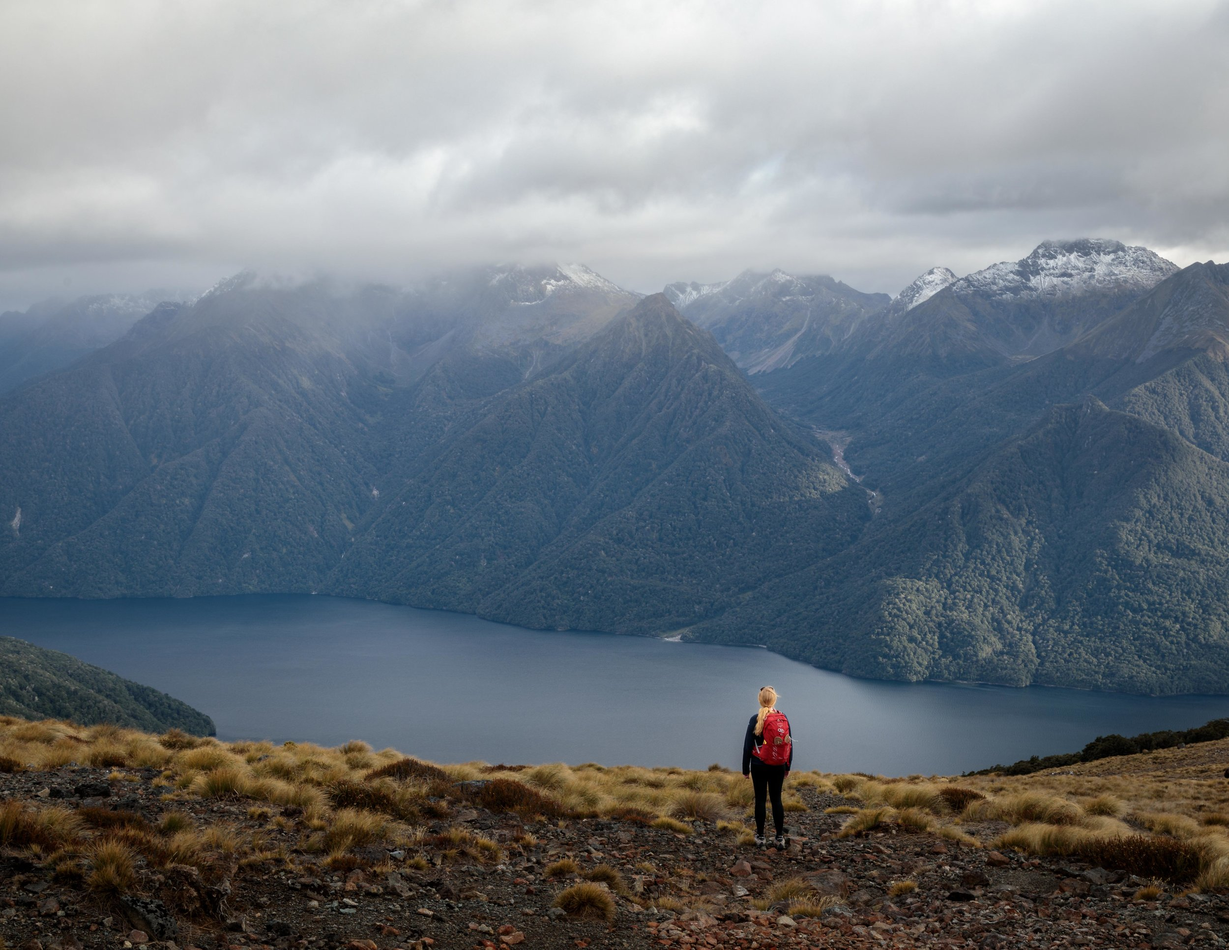 The view of Mount Luxmore on the Kepler Track