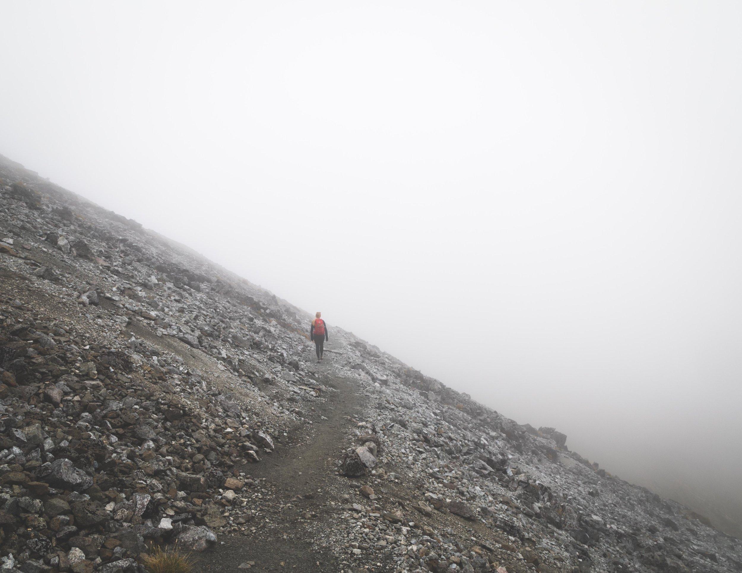 Misty ridge on the Kepler Track