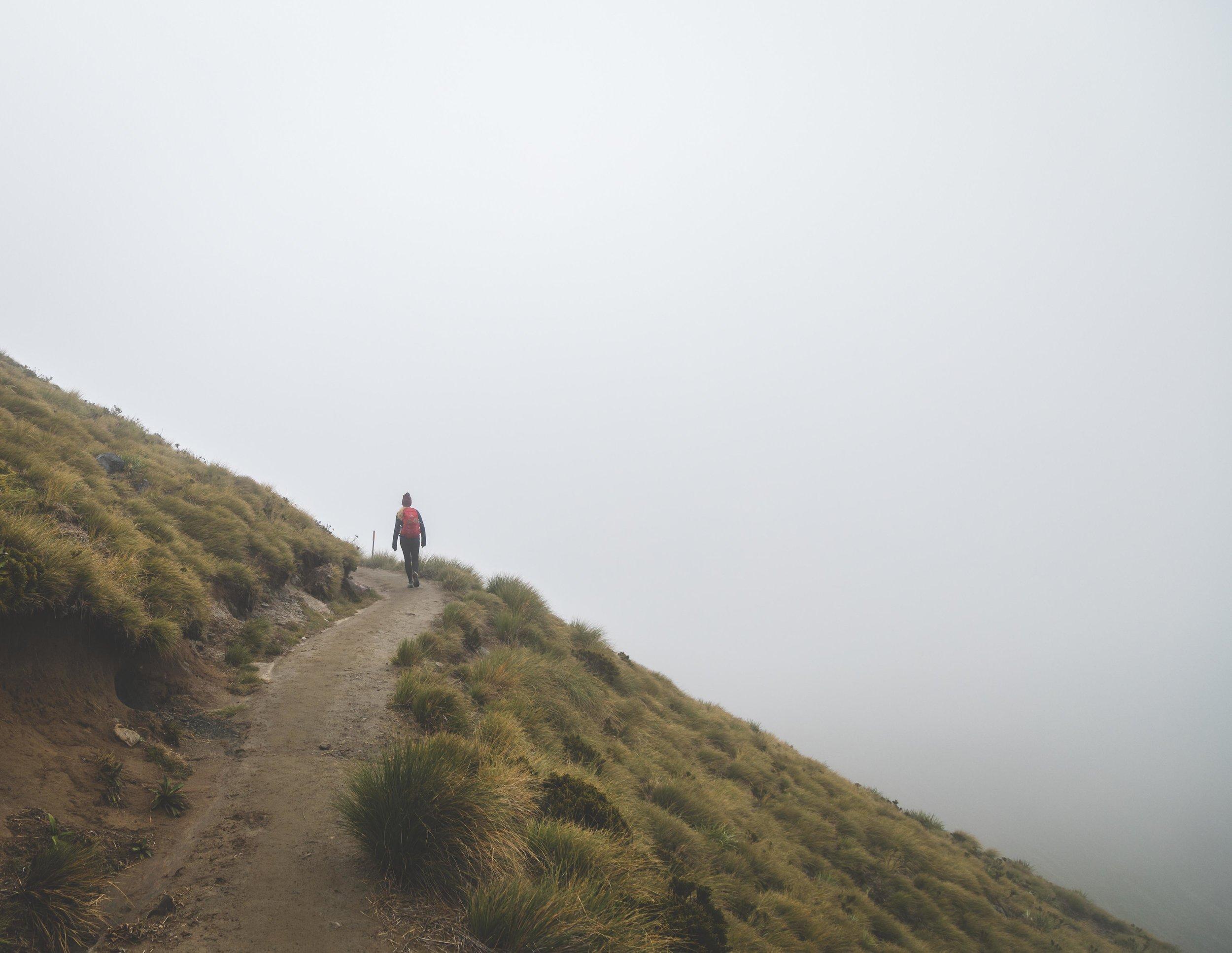 Foggy ridge on the Kepler Track
