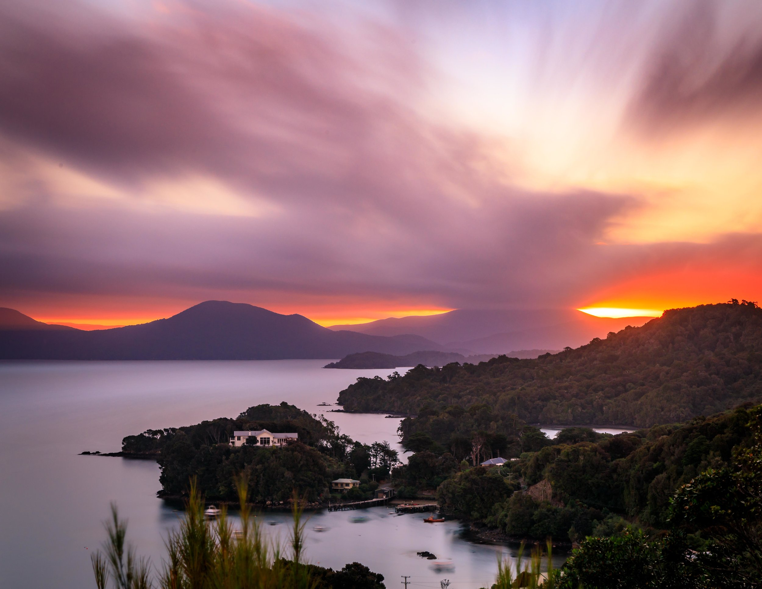 Sunset at Observation Rock, Stewart Island
