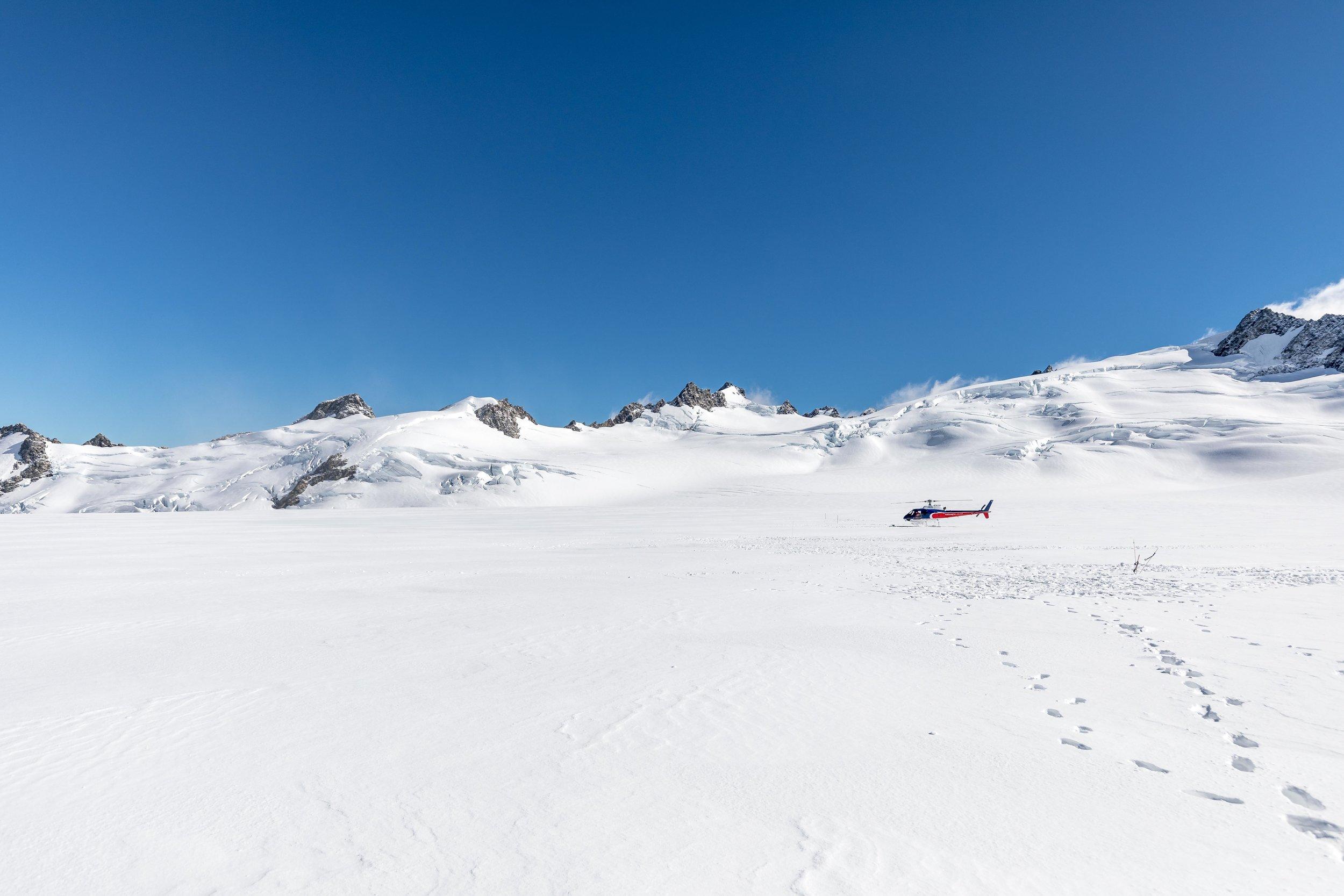 Heli-hiking on Franz Josef Glacier, New Zealand