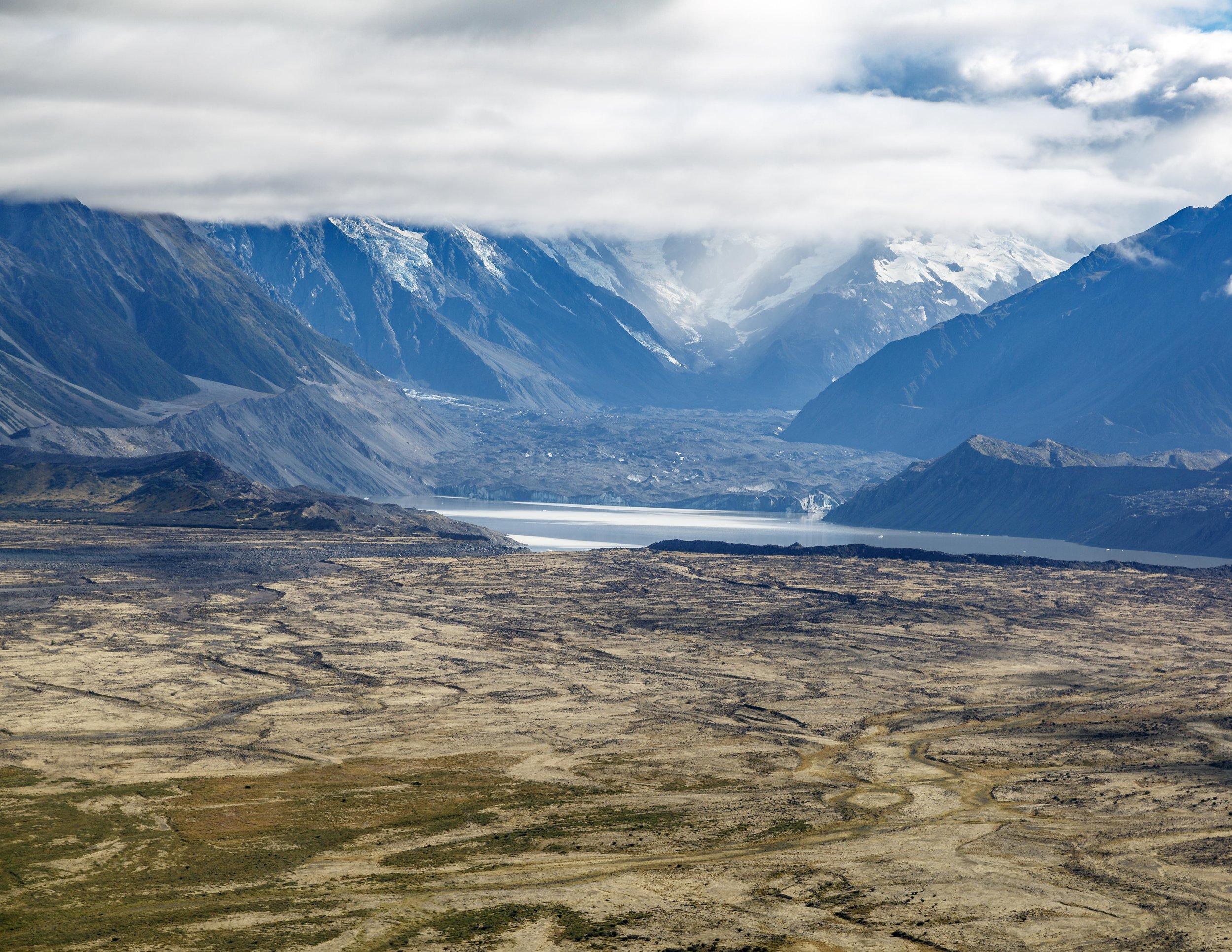 Helm-Hike Tasman Glacier, Mount Cook, New Zealand