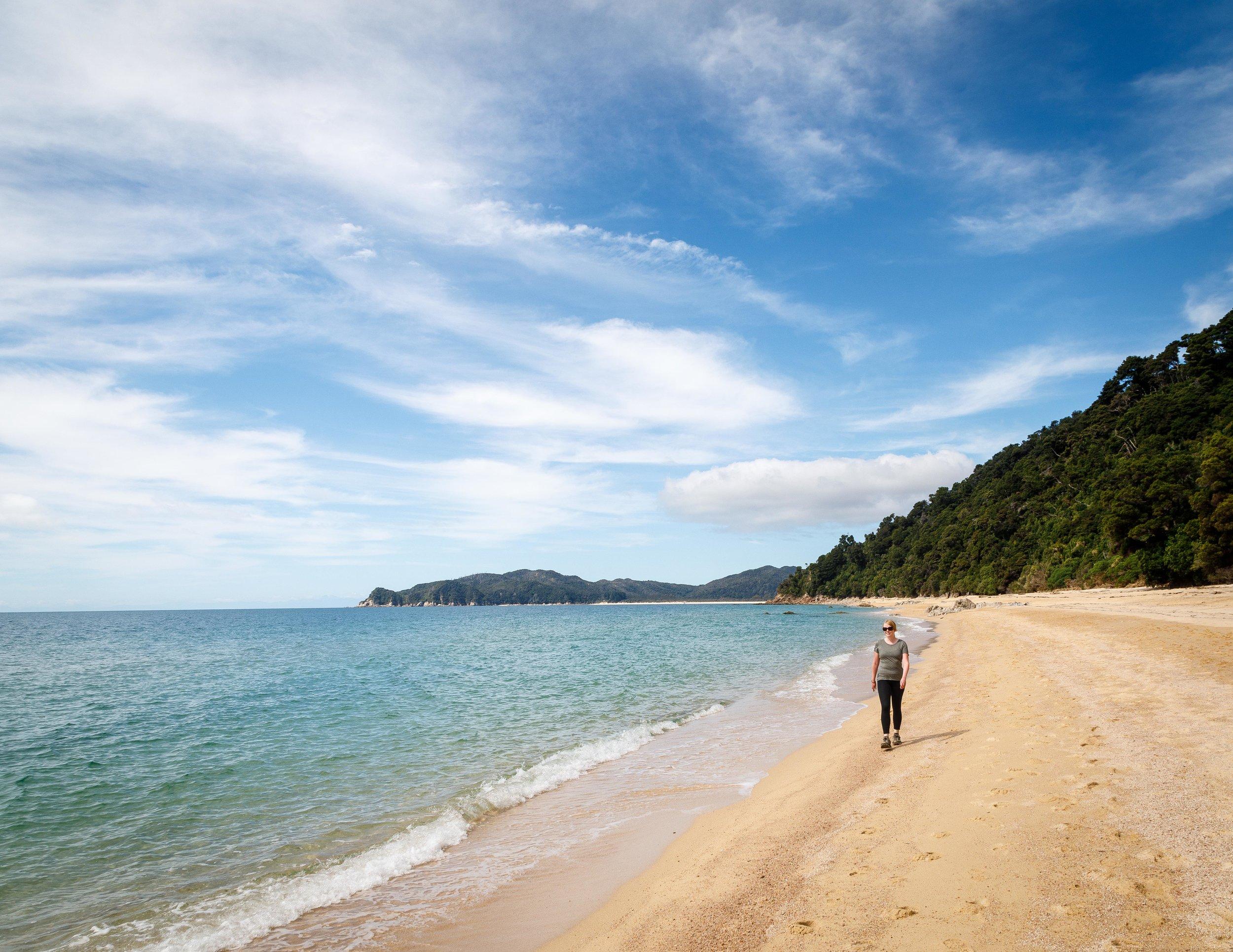 Goat Bay, the track crosses so many wonderful beaches