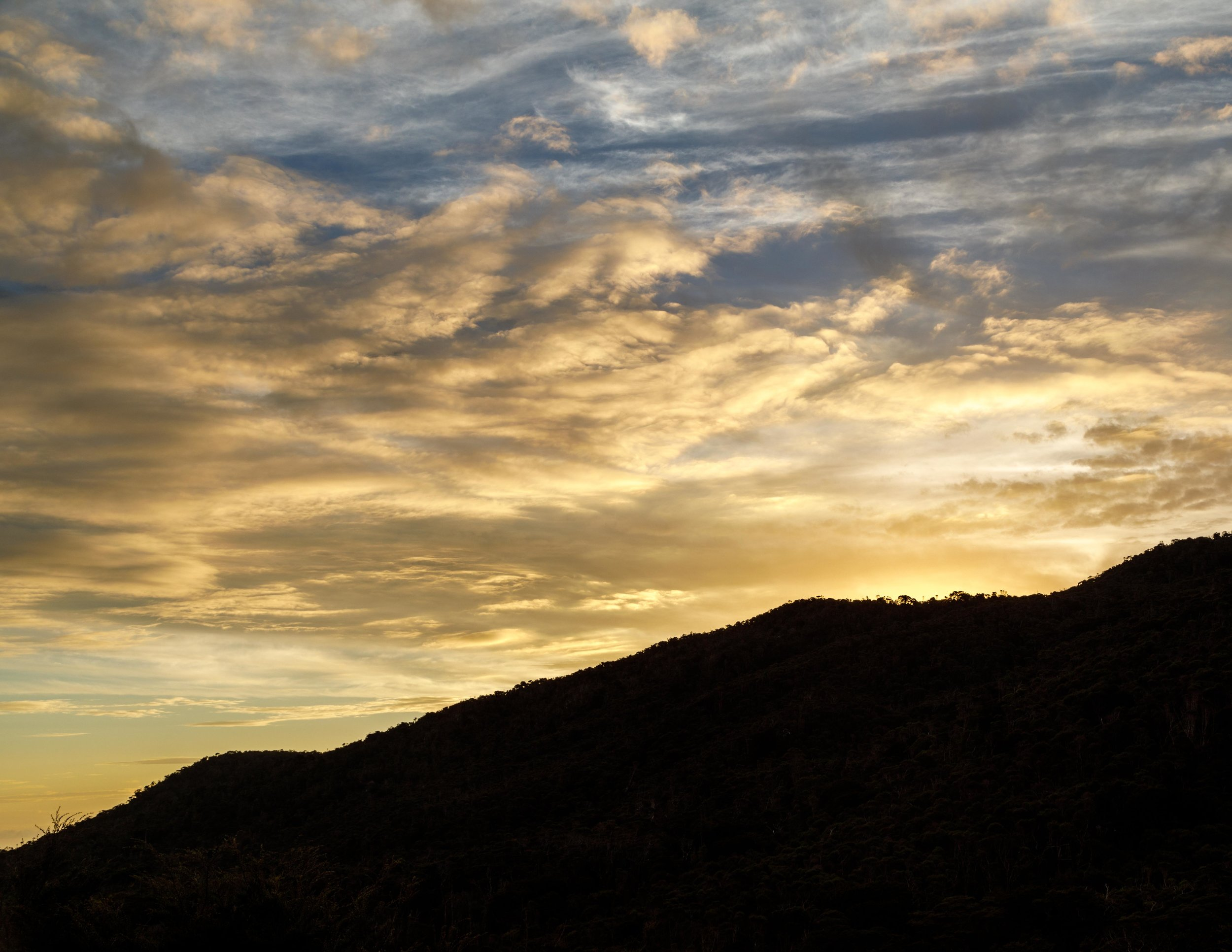 Sunset at James Mackay, Heaphy Track