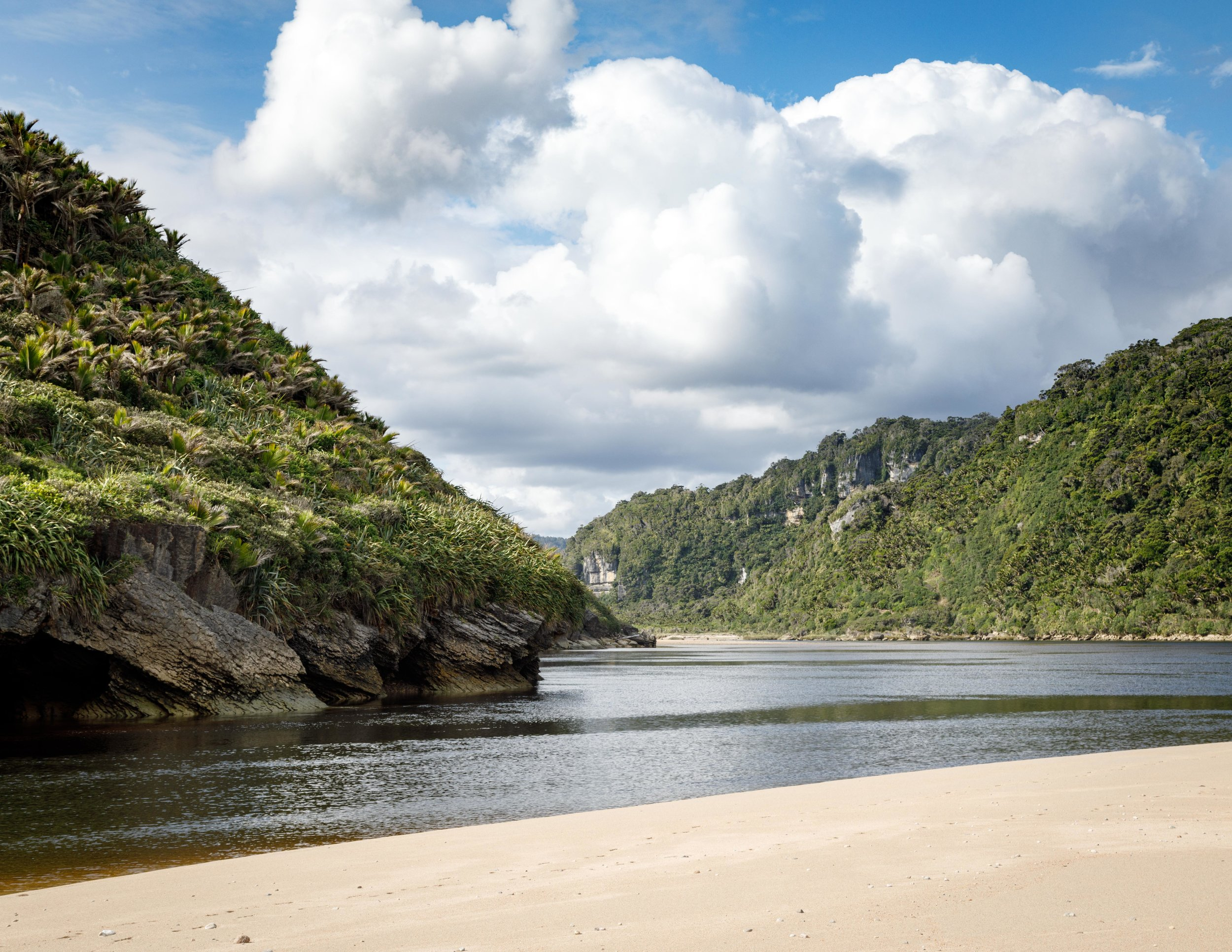 Heaphy River by Heaphy Hut on Heaphy Track
