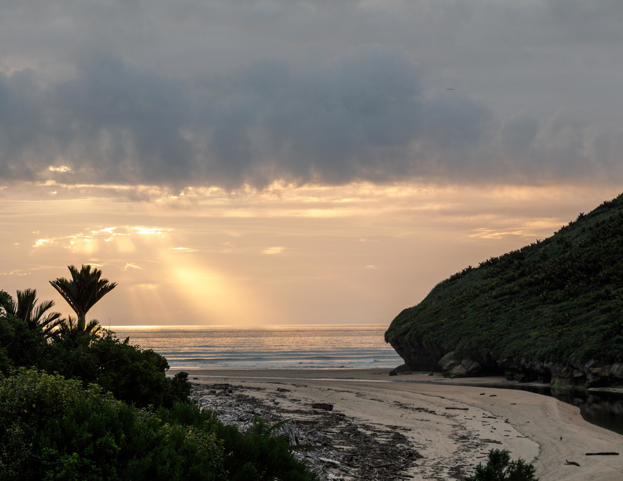Sunset at Heaphy Hut on Heaphy Track
