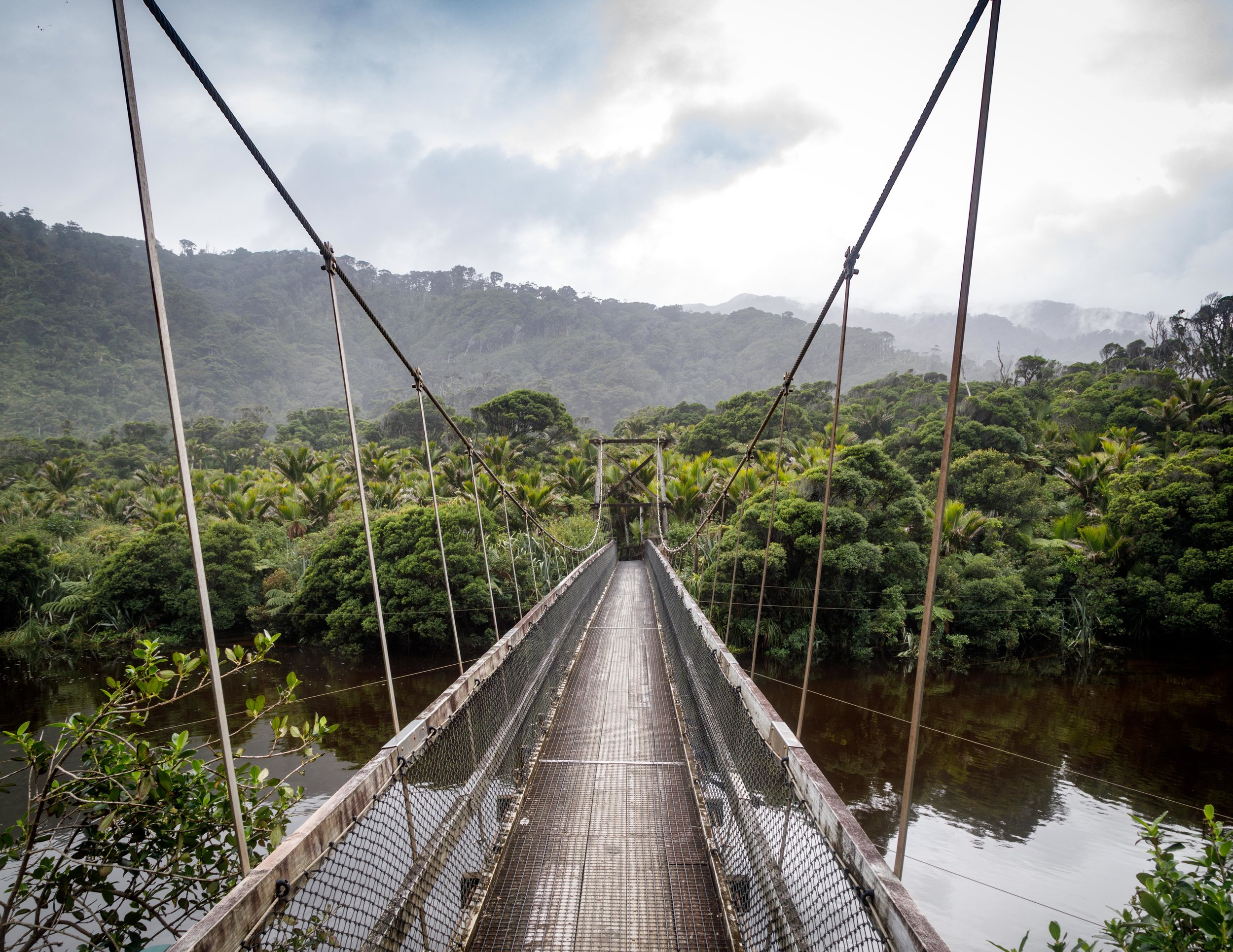 The end of the Heaphy Track