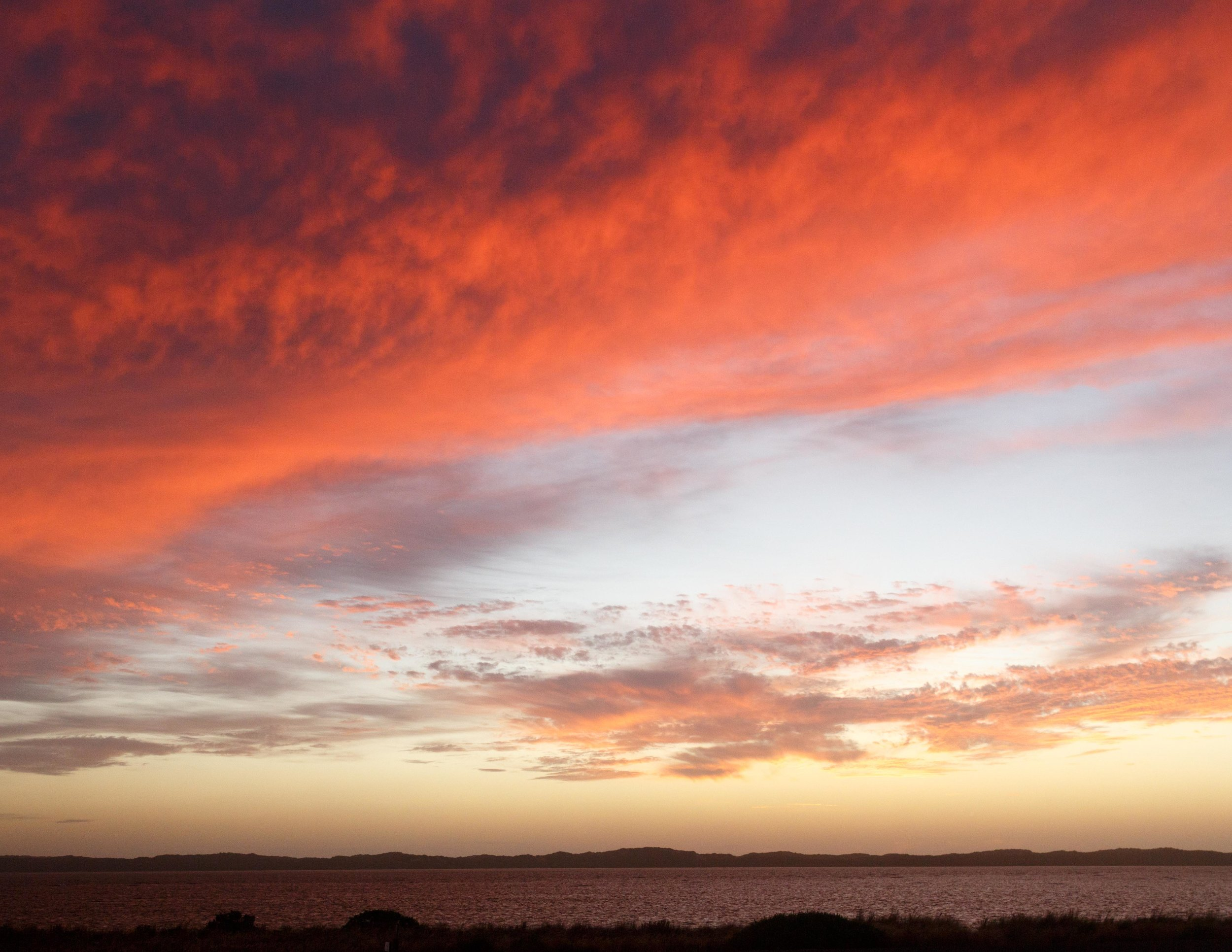 Fiery sunsets in Coorong