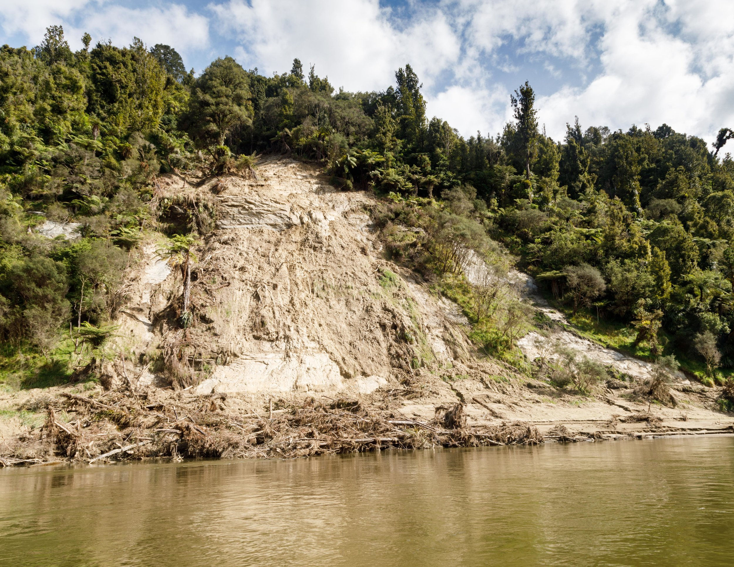 The current condition of the Whanganui River