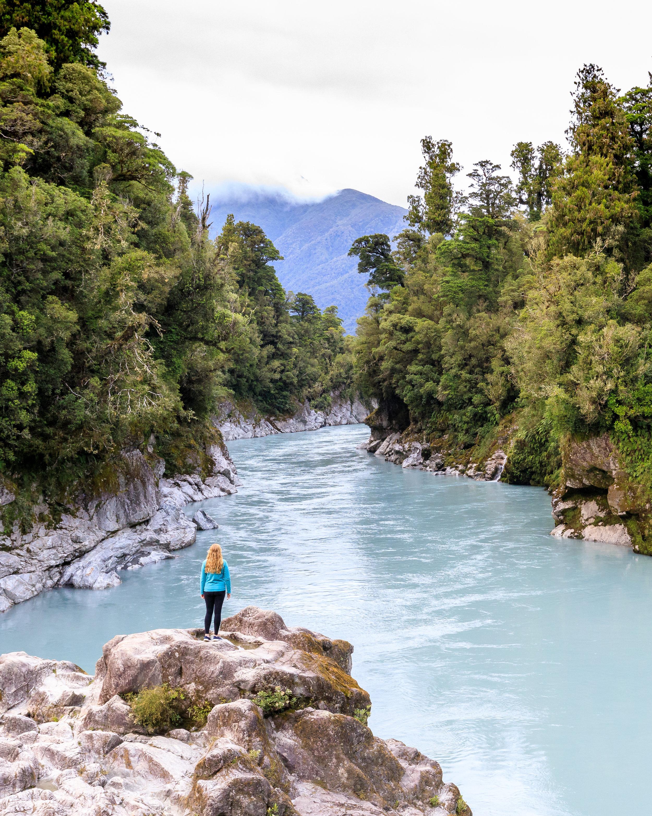 Hokitika Gorge on the West Coast of the South Island of New Zealand