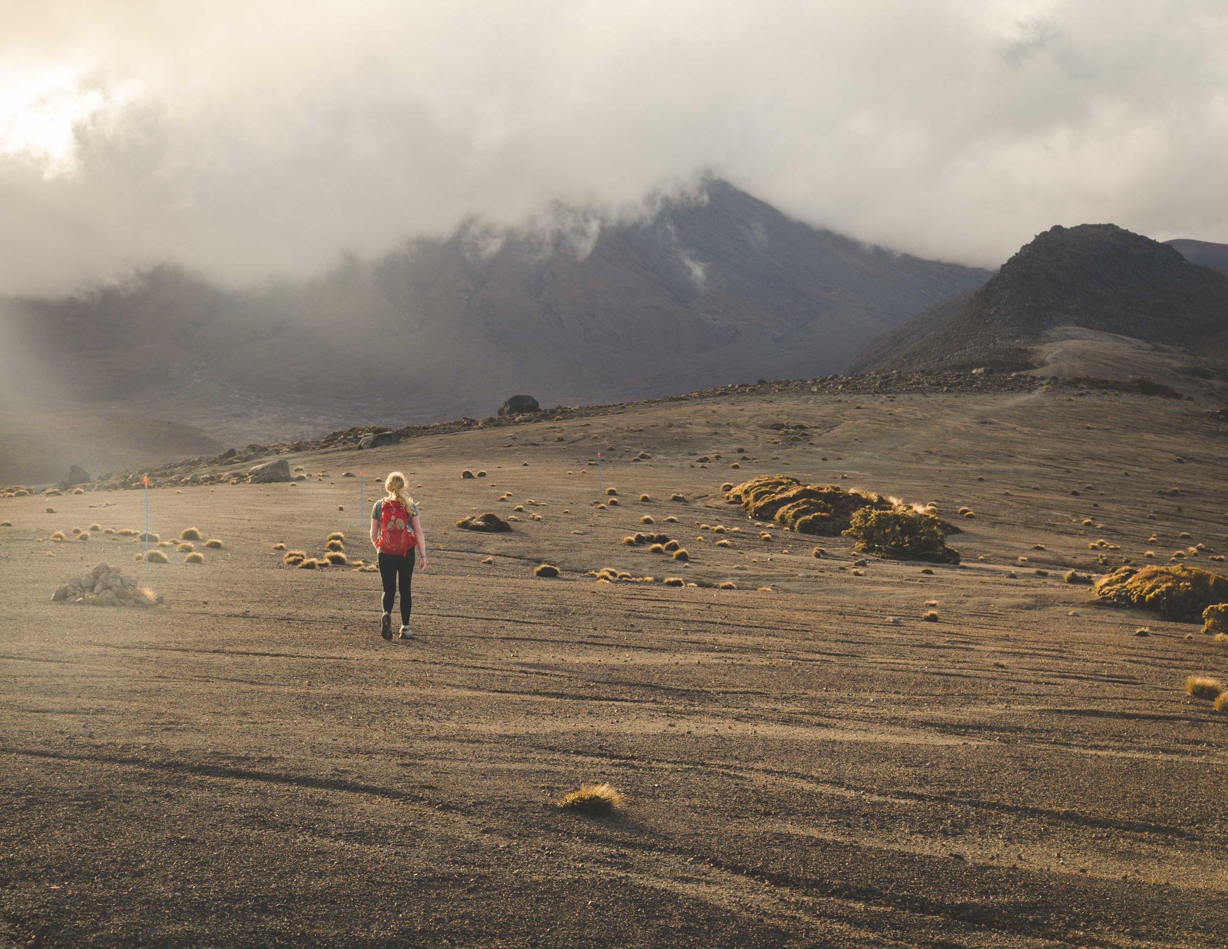 Golden hour at Tongariro. Mount Ngauruhoe was hidden under a cloud