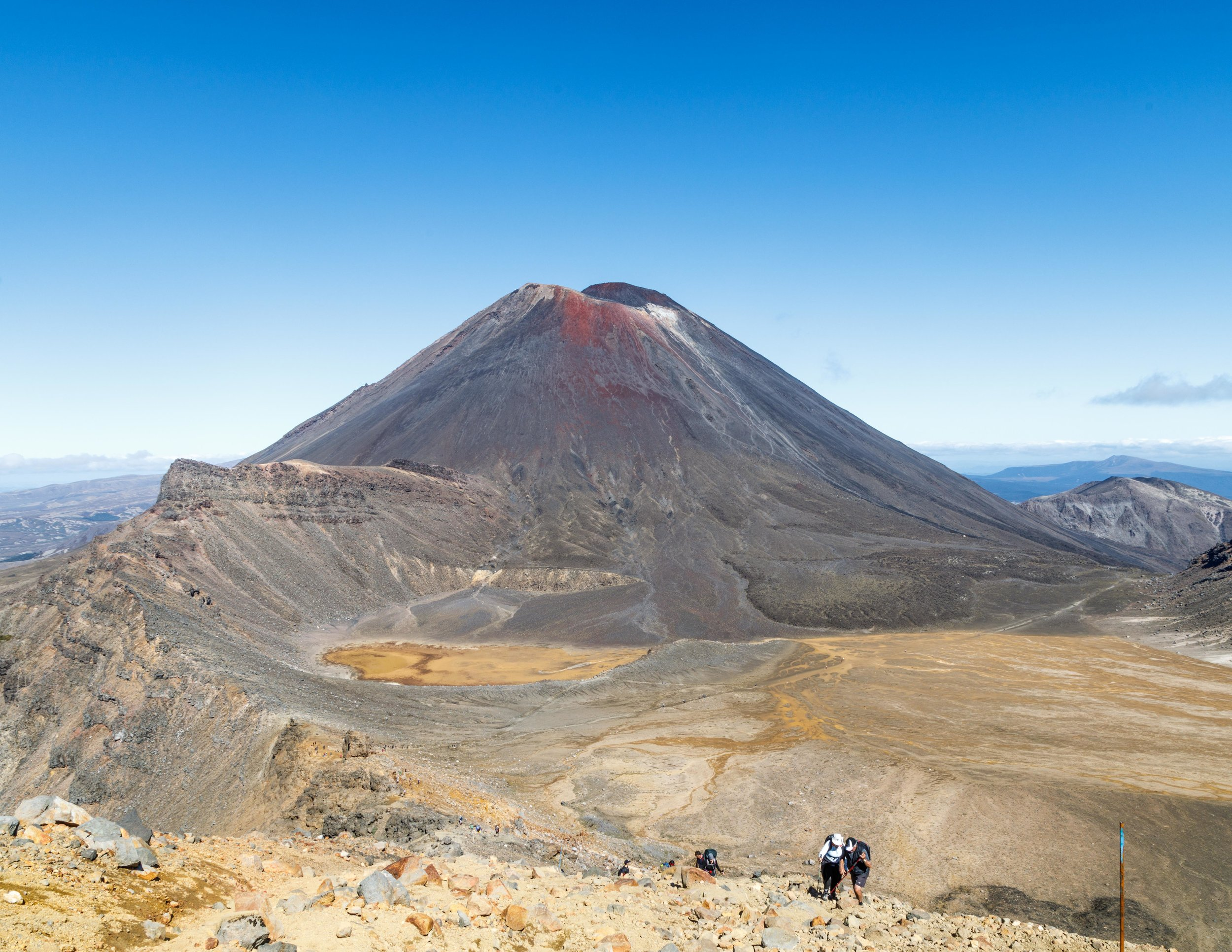 The magnificent Ngauruhoe from the top of the Red Crater