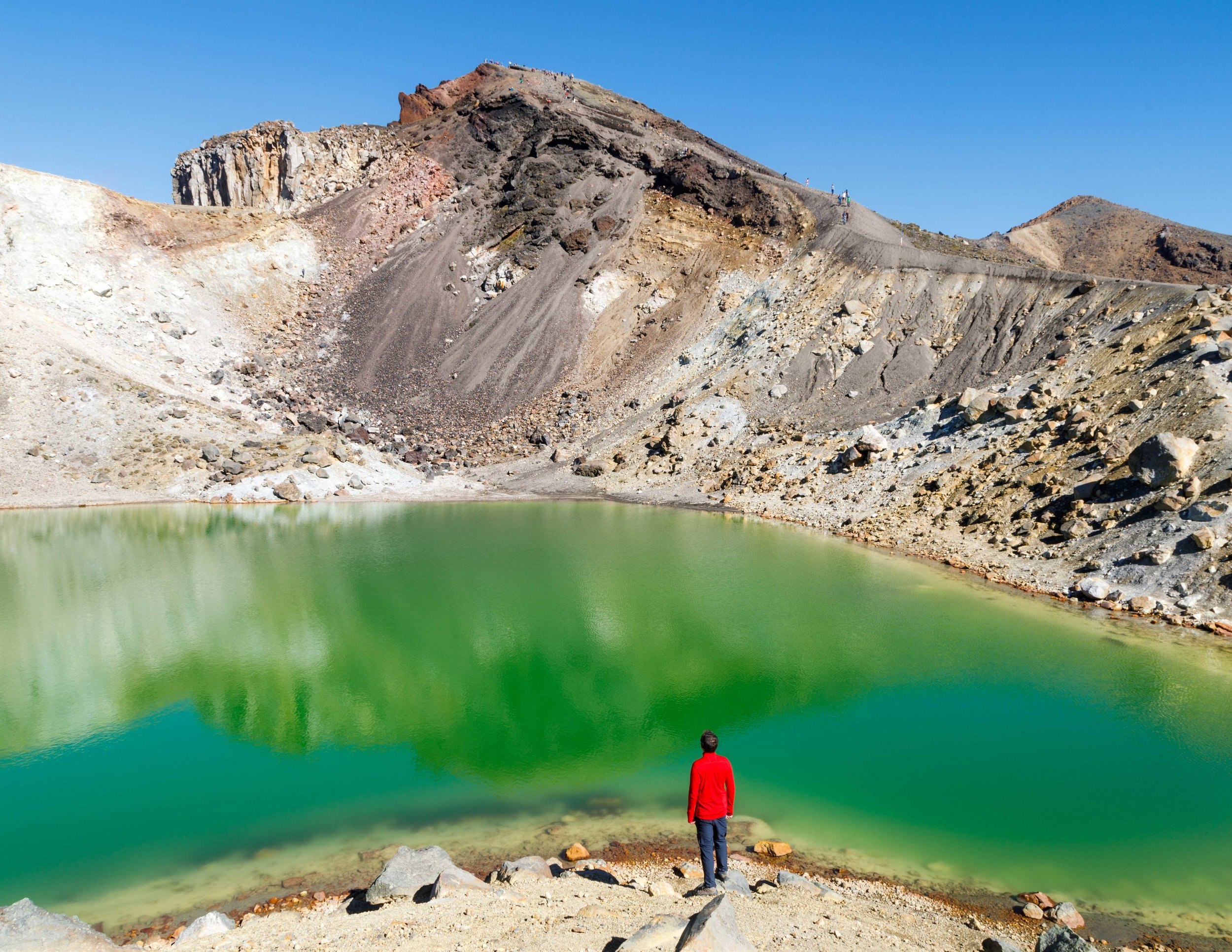One of the Emerald Lakes on near Red Crater