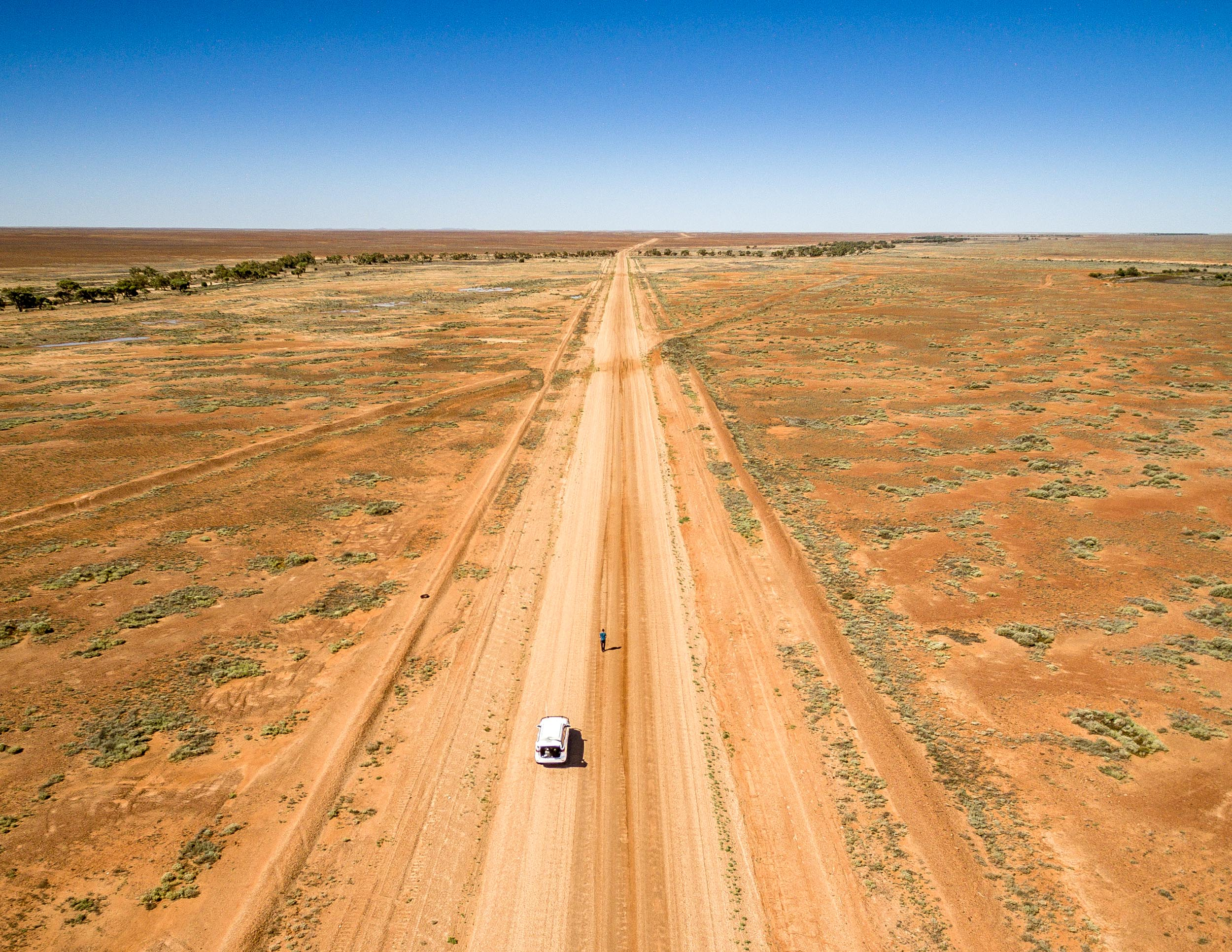 The road to Oodnadatta, Coober Pedy, South Australia