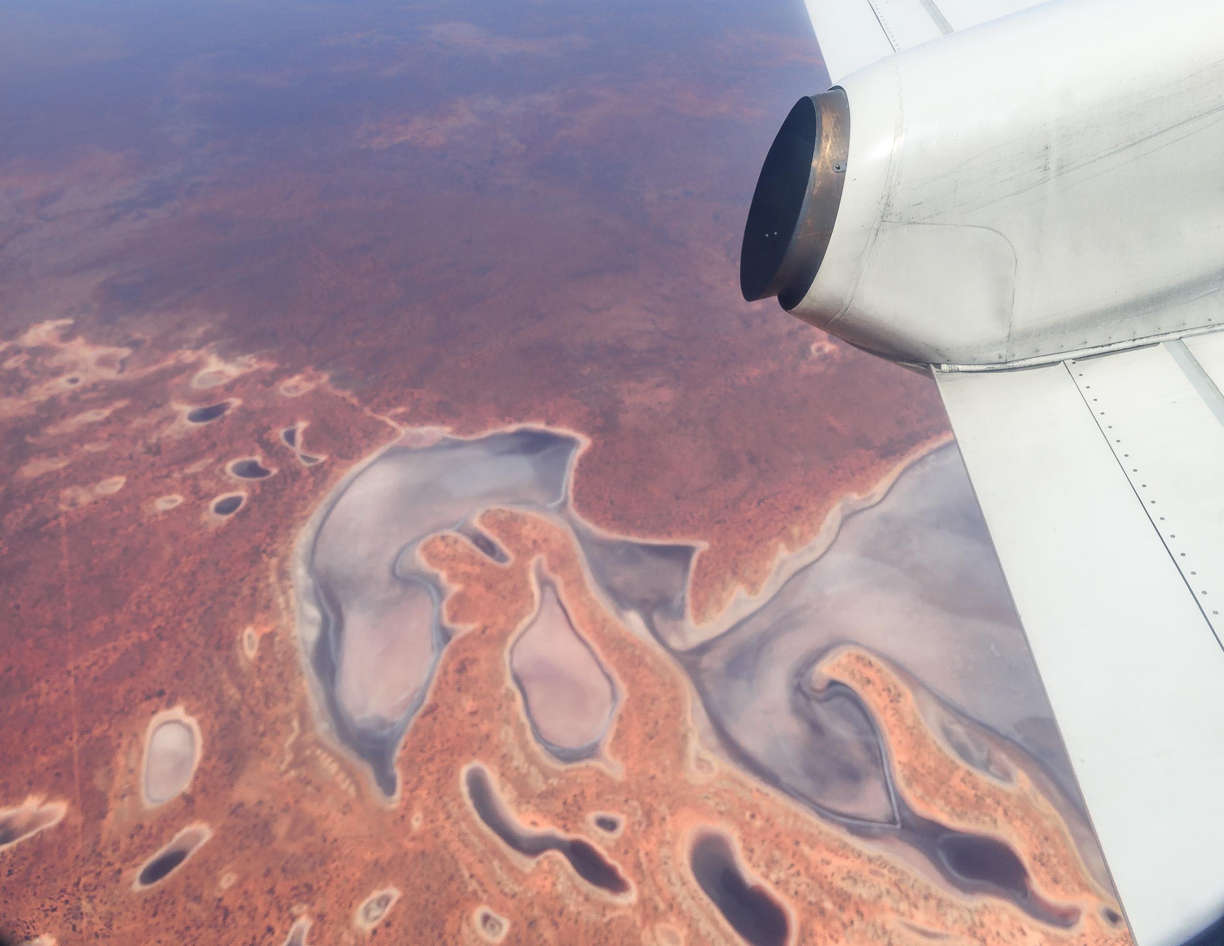 The flight to Coober Pedy, South Australia