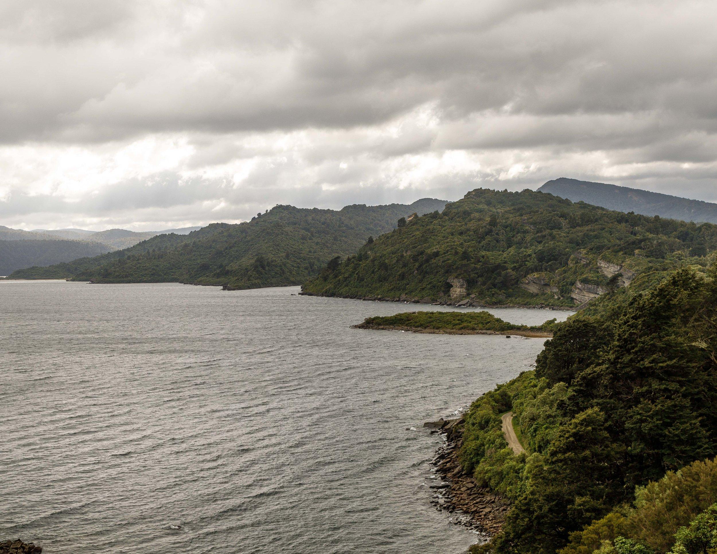 The view on the ridge on Lake Waikaremoana