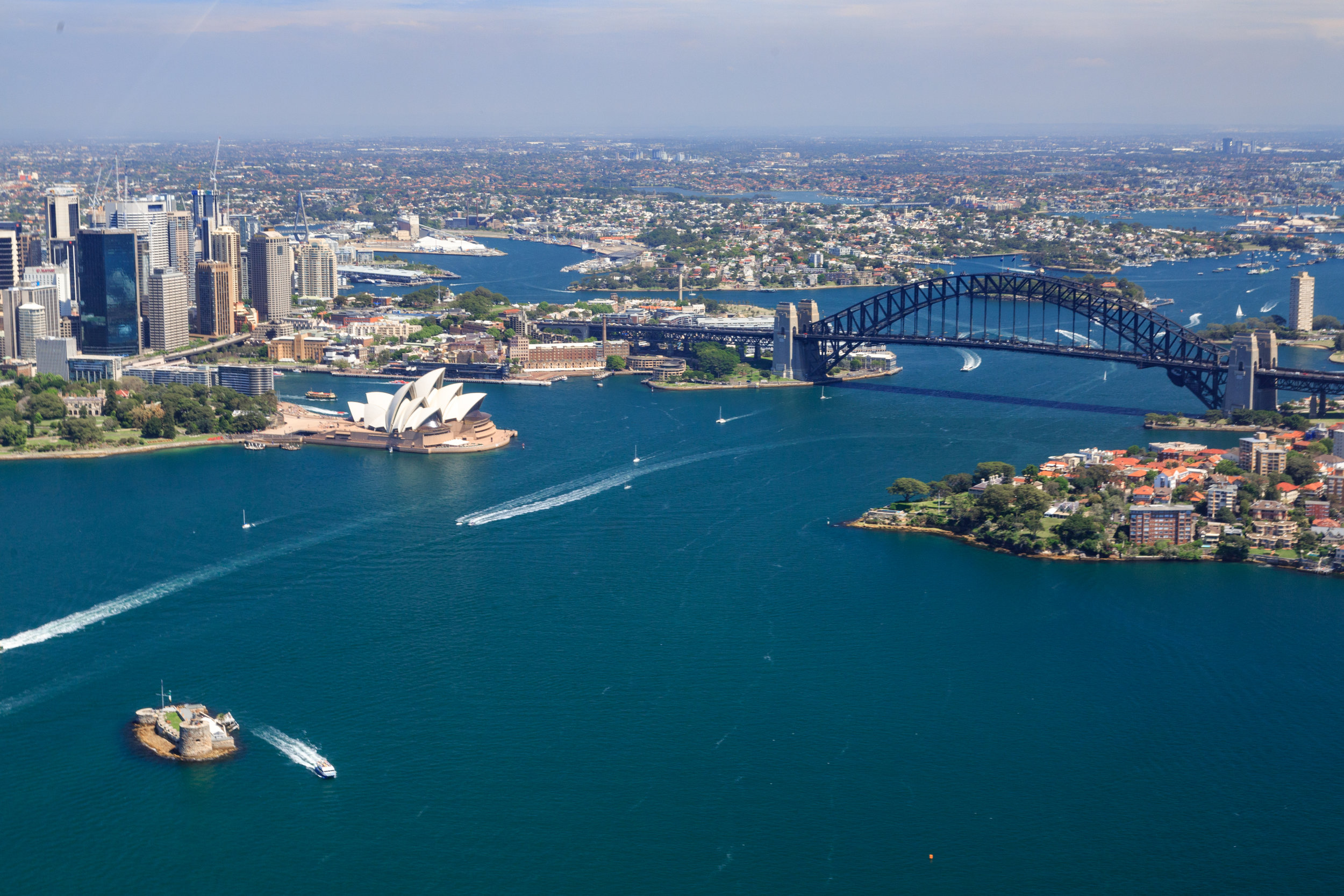 Best views of the Sydney Harbour Bridge: from a helicopter