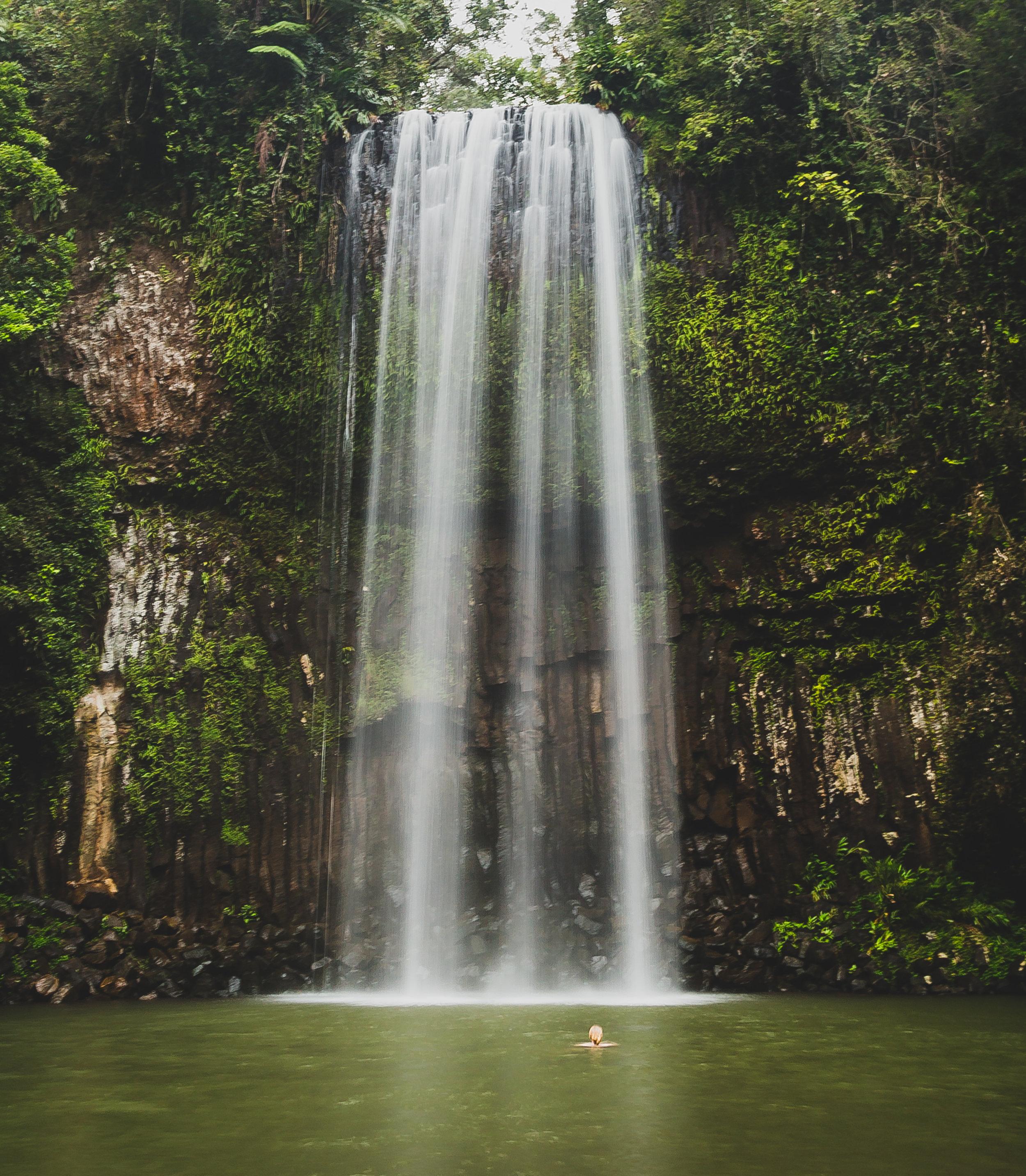 INstagrammable spots near Cairns: Milaa Milaa Falls