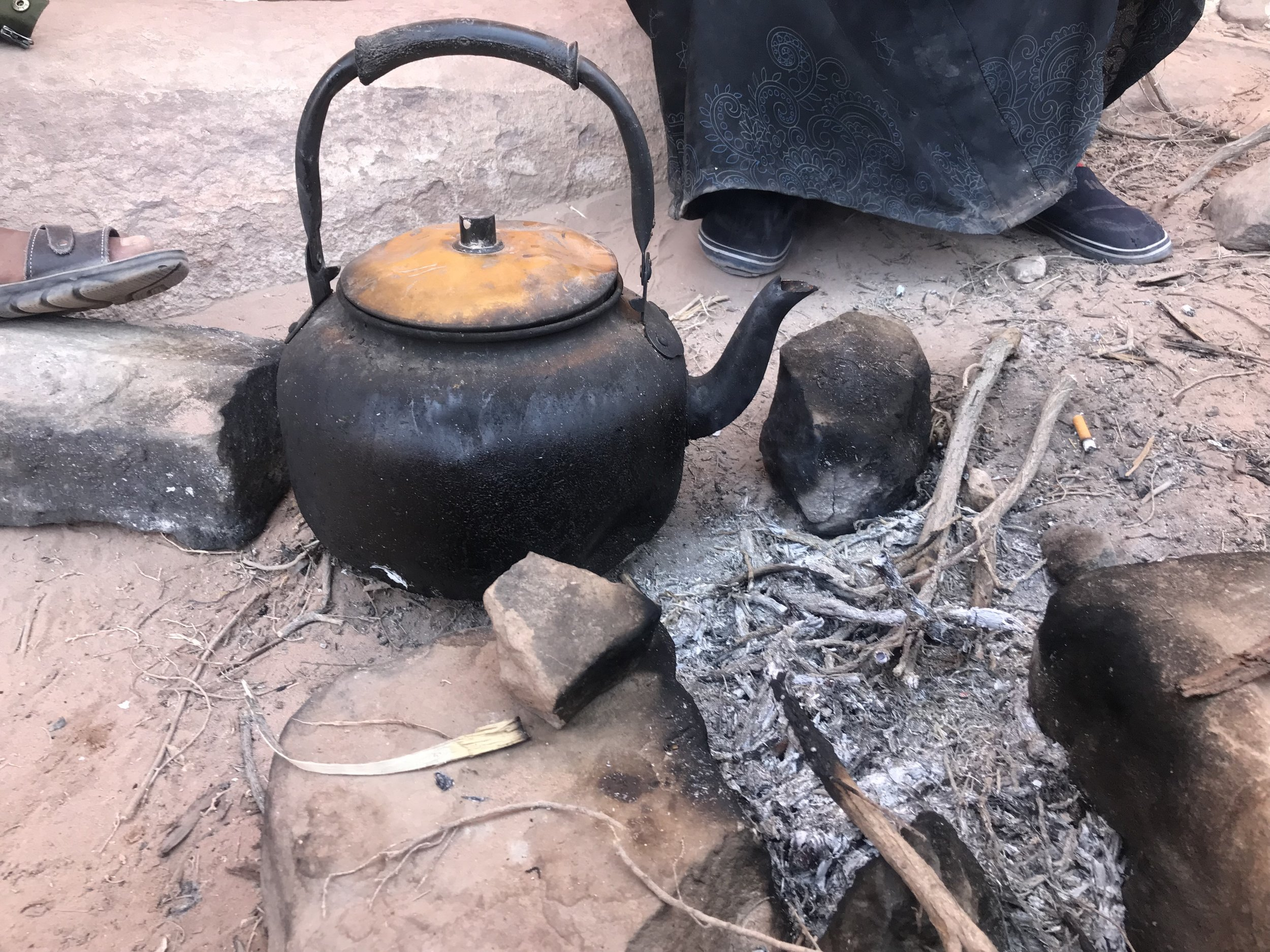 Bedouin tea at the Monastery