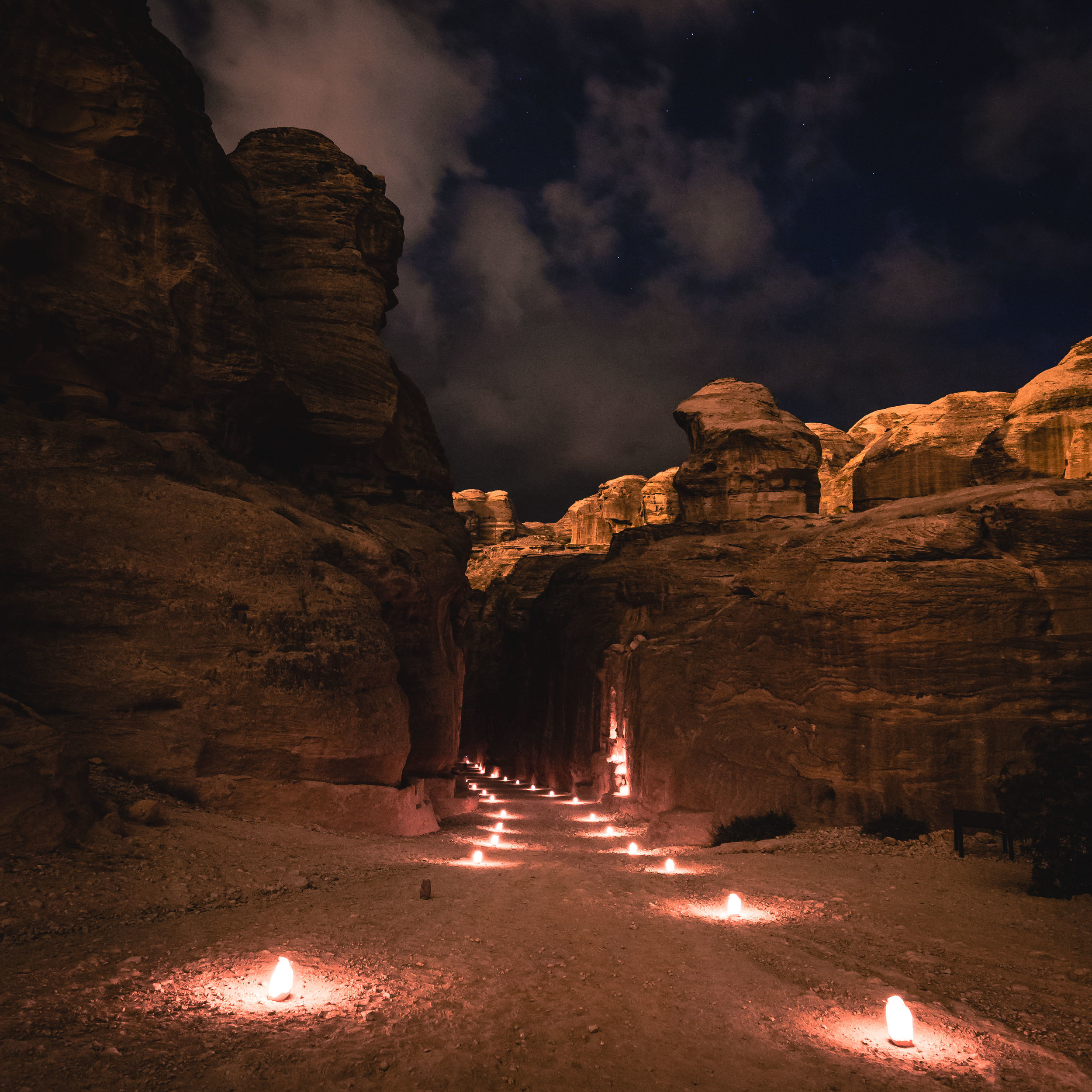 Petra By Night: The Siq
