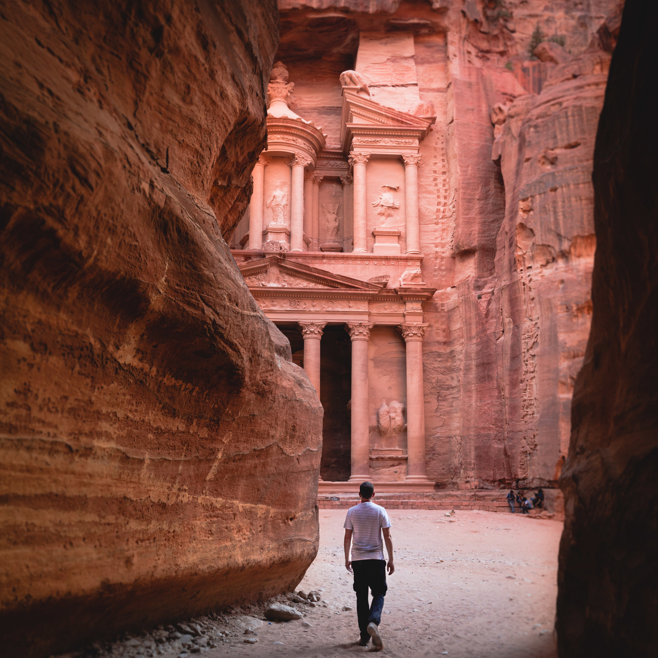 Make sure this view at sunrise is your introduction to Petra