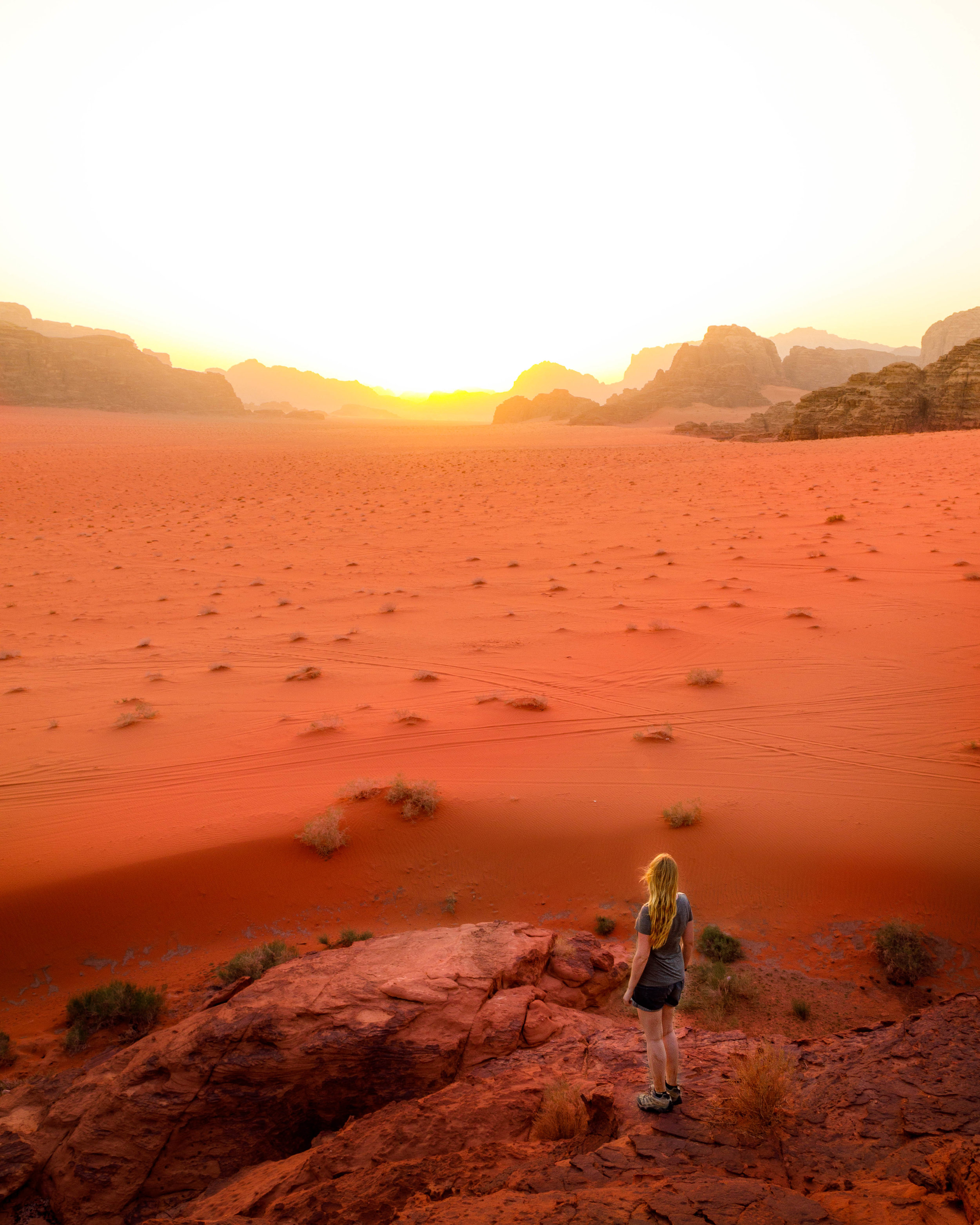 Instagrammable spots in Jordan - Sunset in Wadi Rum