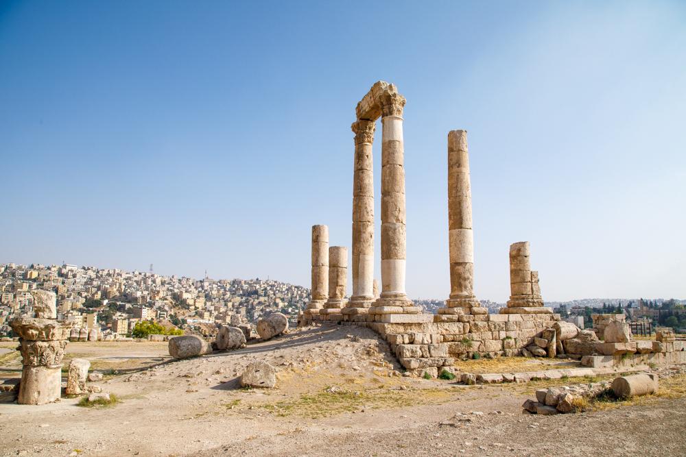 Places to visit Jordan - The Citadel, Amman