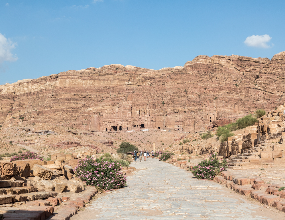 The Royal Tombs carved into the rock