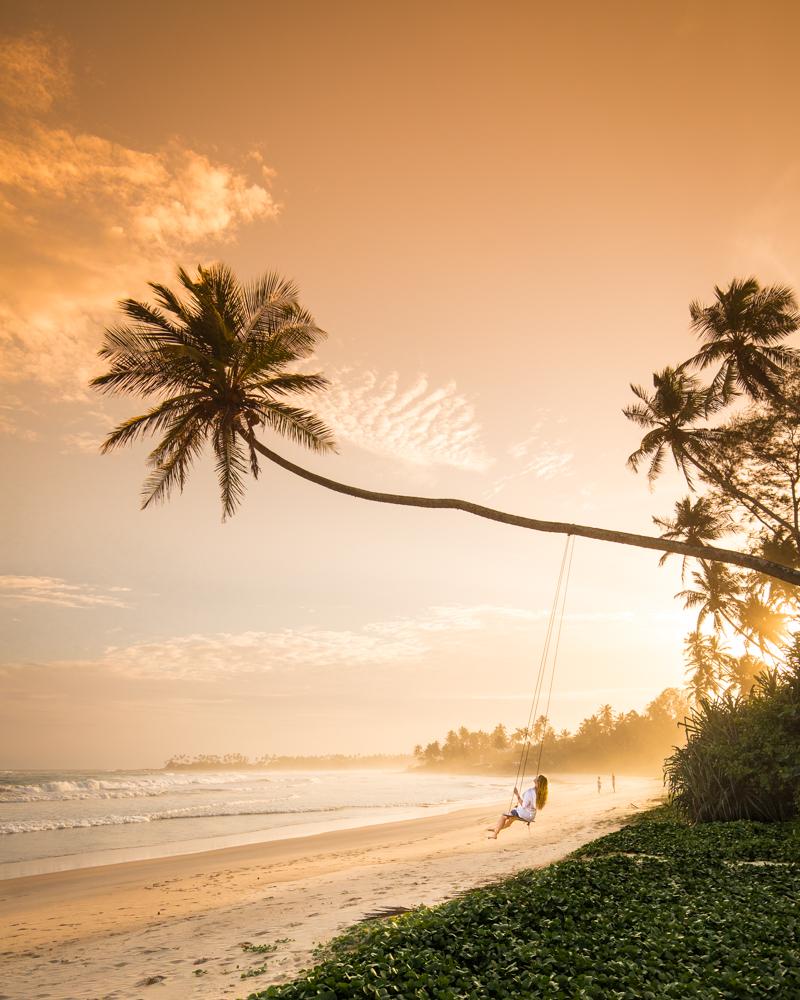 Instagrammable Sri Lanka - Dikwella Beach Swing