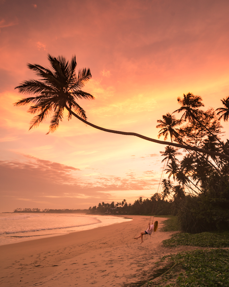 Palm tree rope swings of Sri Lanka - Dikwella