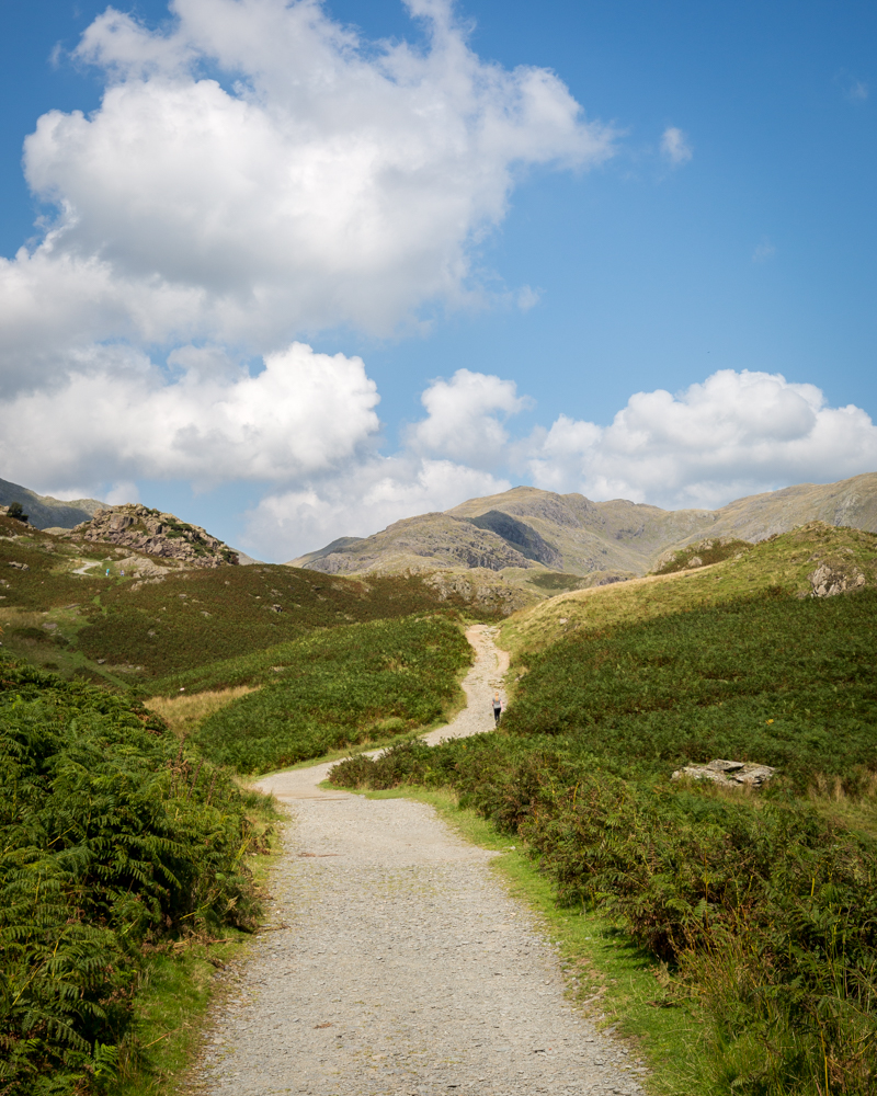 Old Man of Coniston Walk - The start of the track