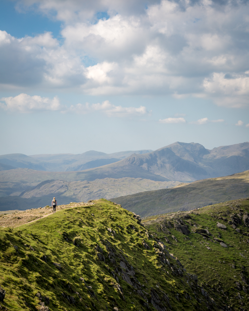 The ridge at the Old Man of Coniston
