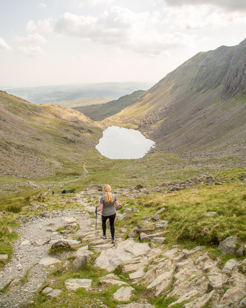 The track down the Old Man of Coniston