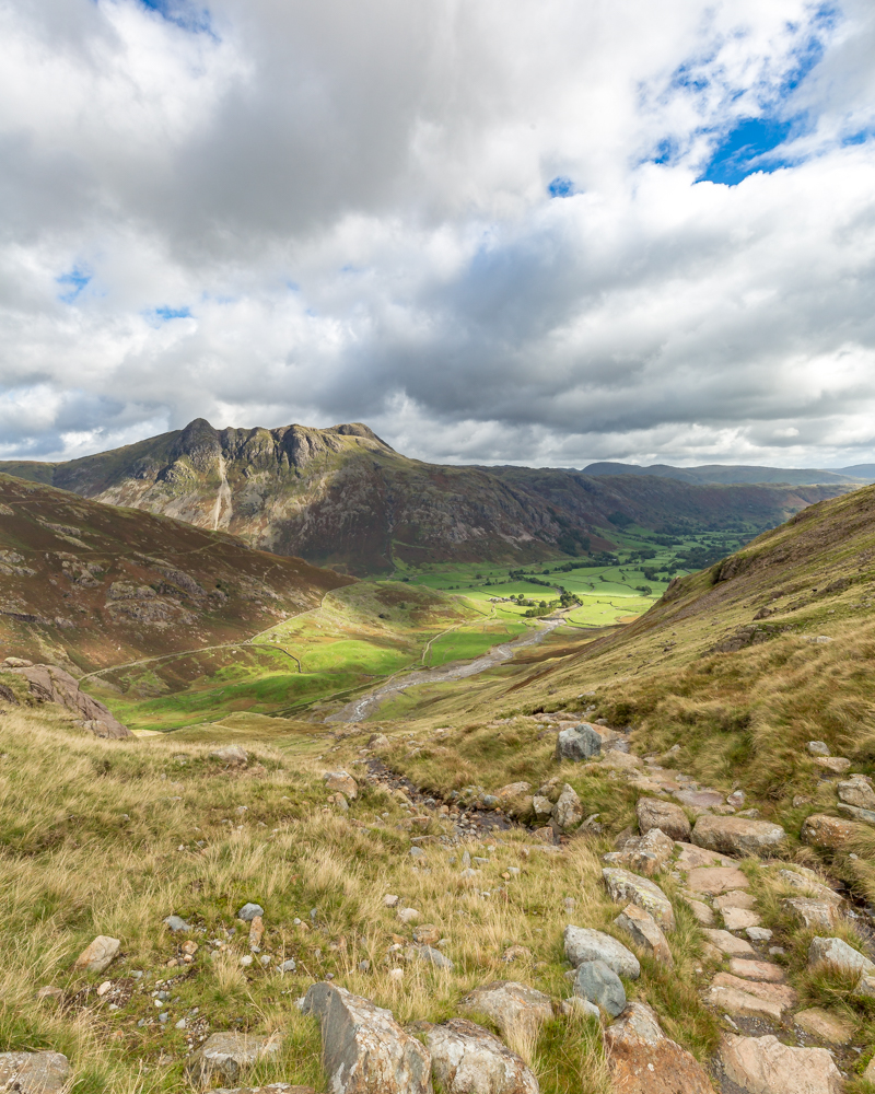 The view back to Great Langdale from Crinkle Crags