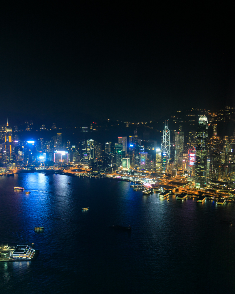 Hong Kong Itinerary - Night time light show