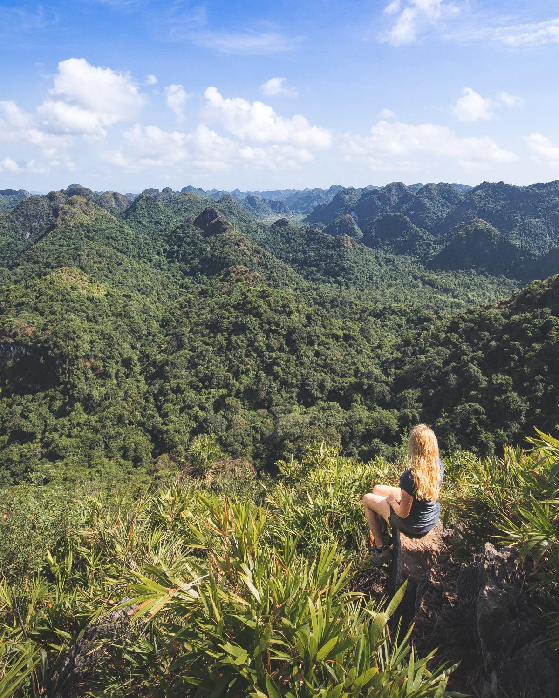 Second viewpoint on Cat Ba National Park Walk Ngu Lam Peak