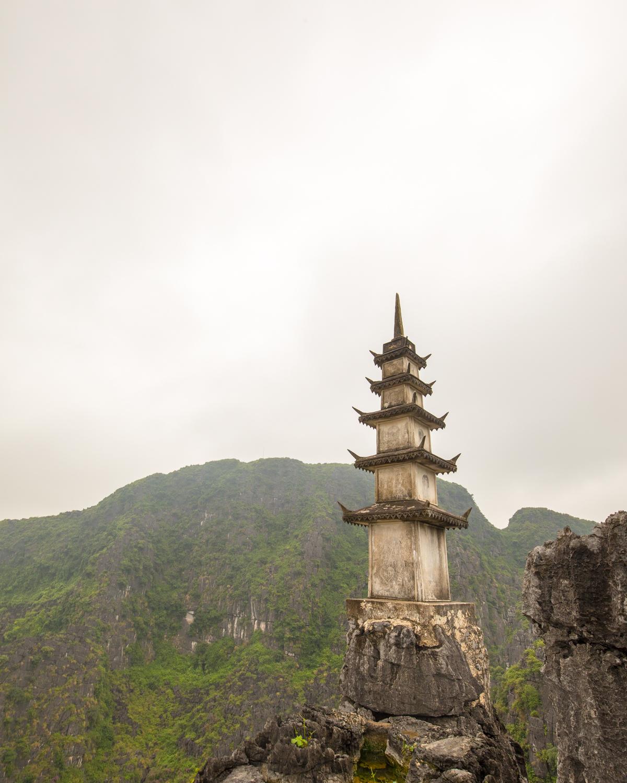 The pagoda in Mua Caves, Ninh Binh