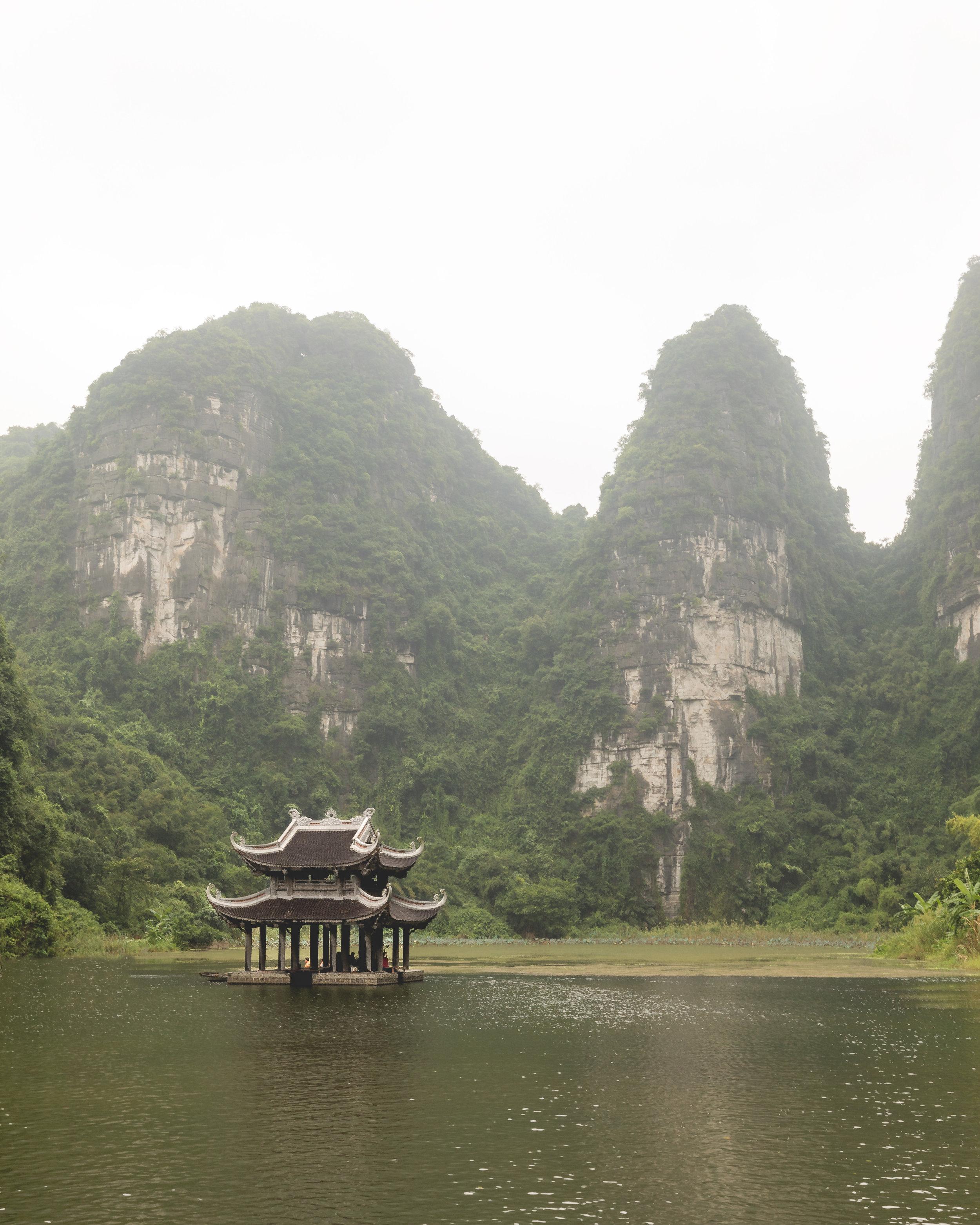 The pagoda in the river at Trang An - Ninh Binh