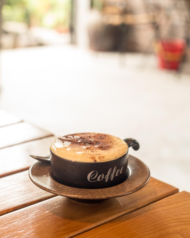 Egg Coffee at Brick Coffee, Tam Coc