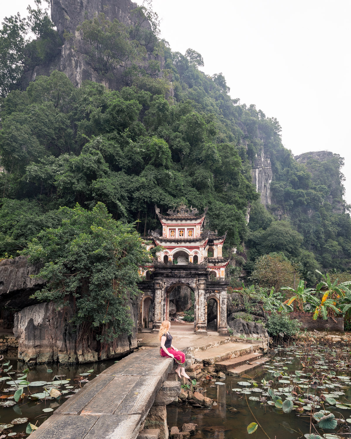 The entrance to Bich Dong Pagoda, Tam Coc Vietnam