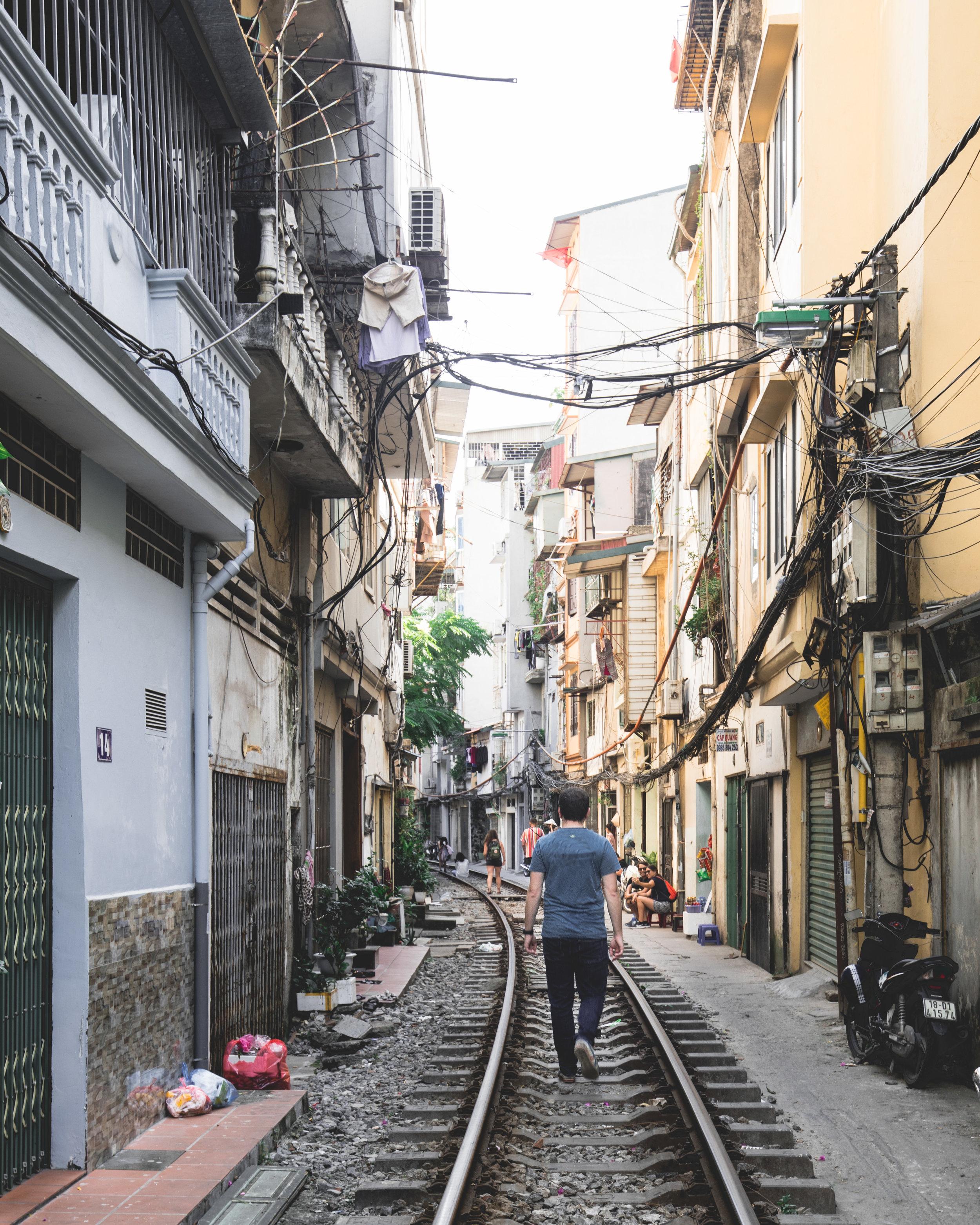 How to get to Train Street Hanoi